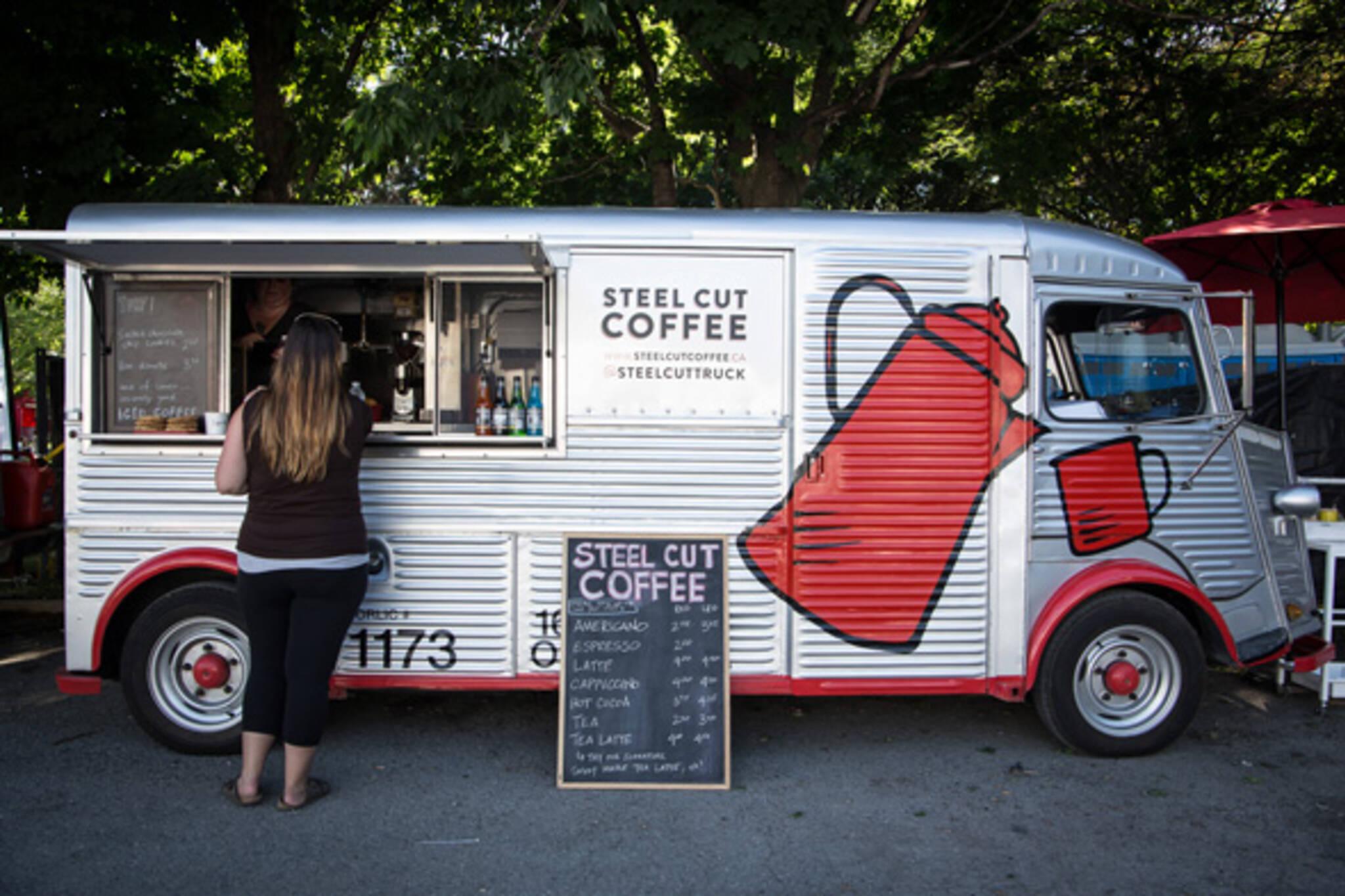 steel cut coffee food truck