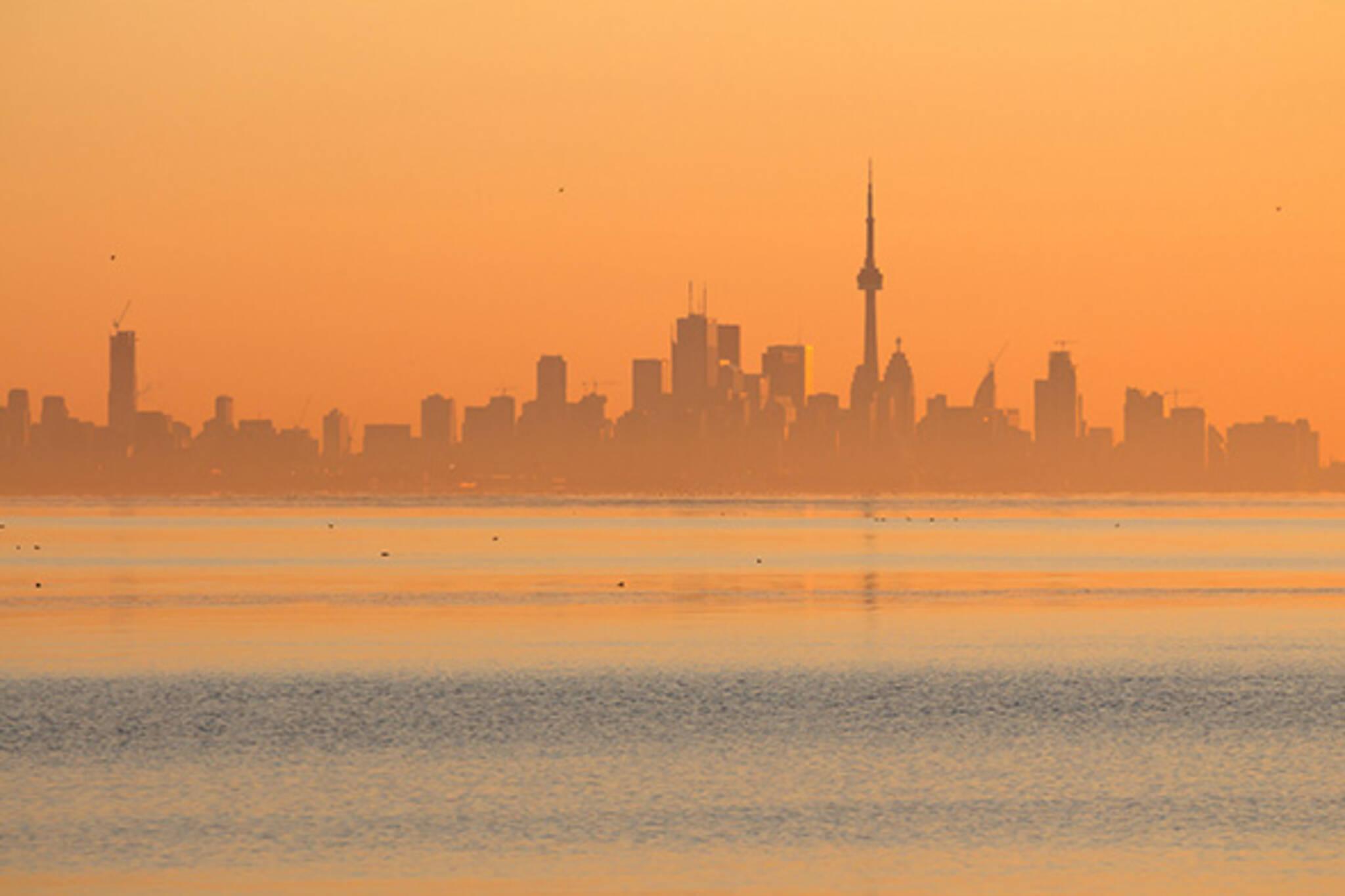 Toronto skyline orange