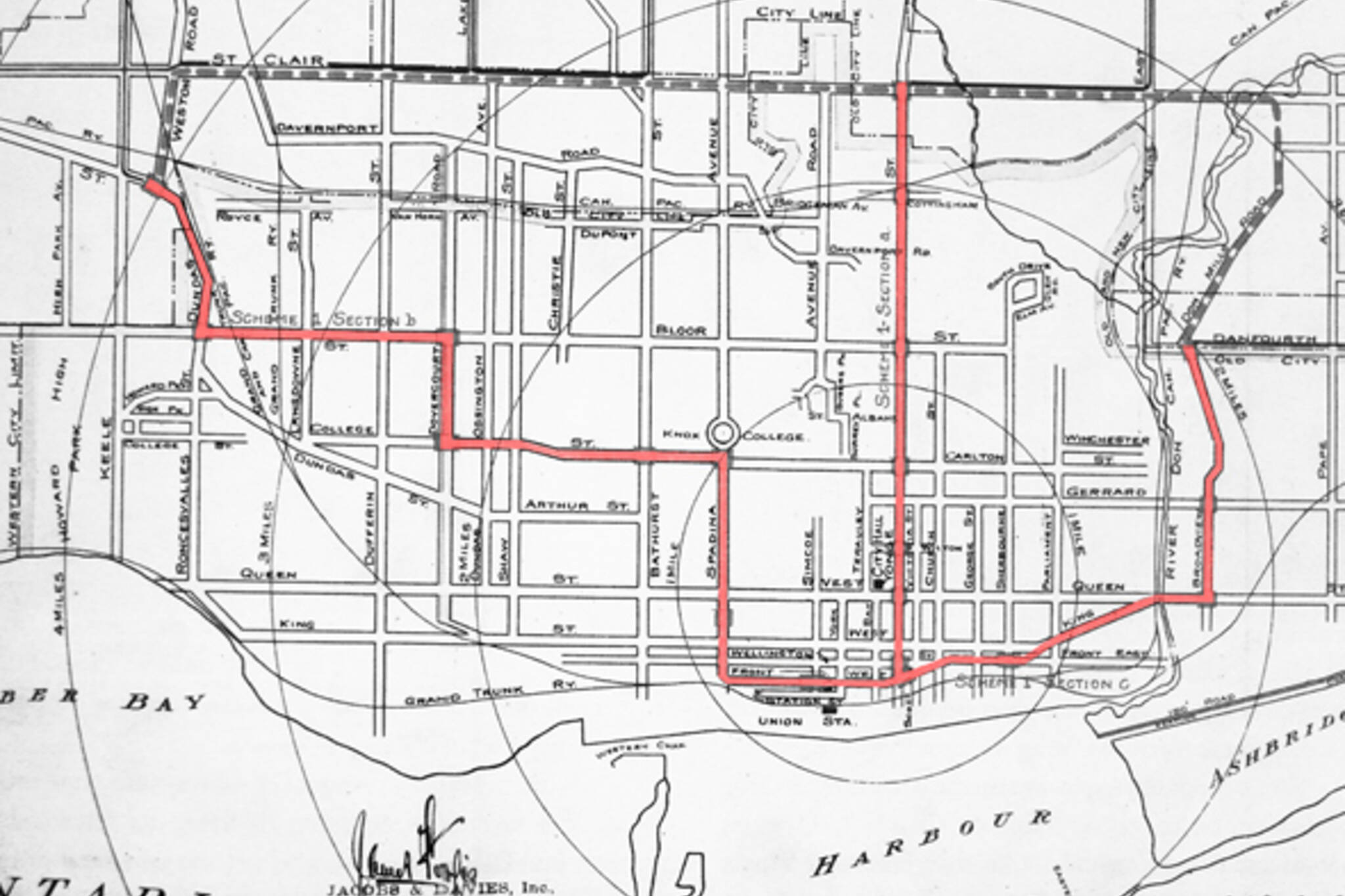 Jacobs and Davies Toronto Subway 1910