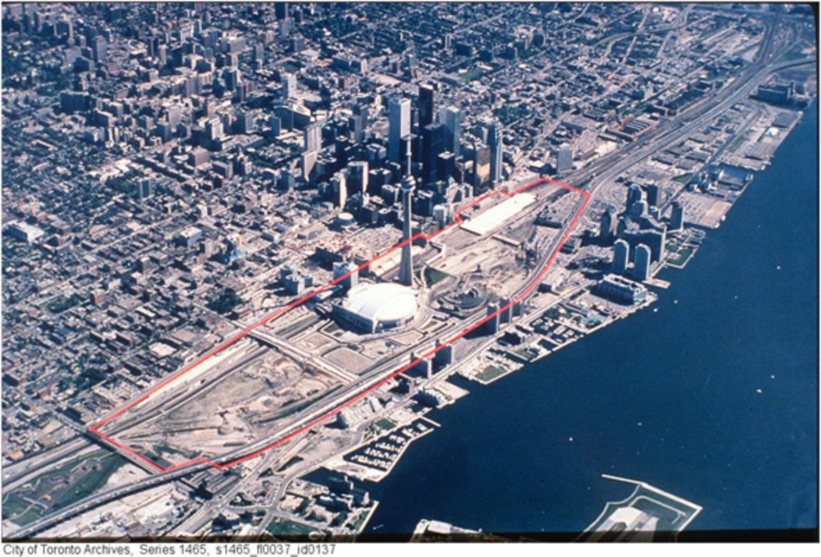 History Railway Lands Toronto