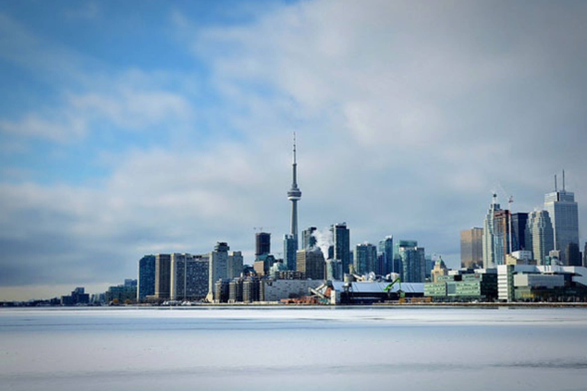 toronto frozen lake