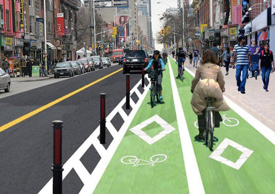 toronto bloor bike lane
