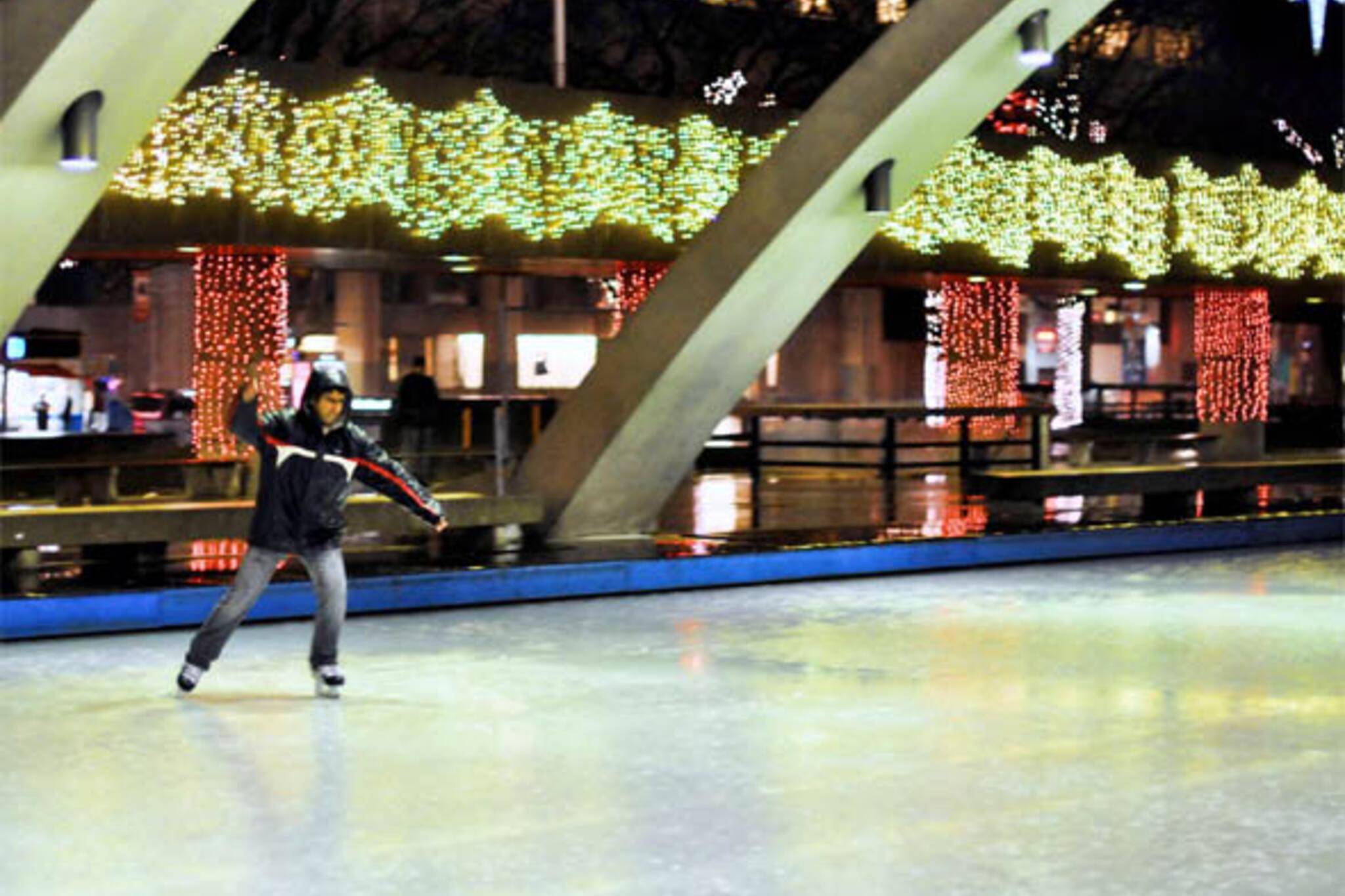city hall skating