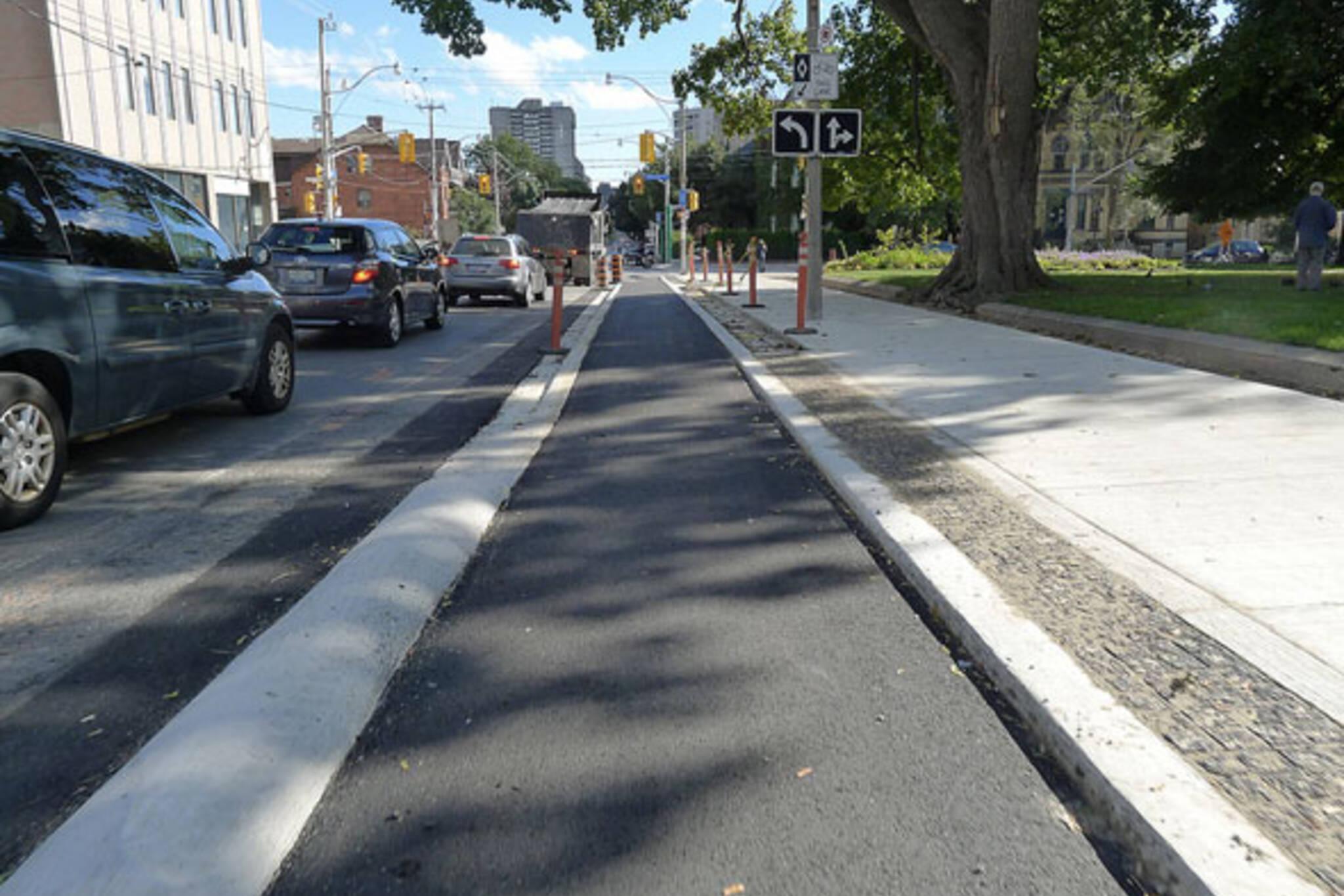 Richmond Adelaide bike lanes toronto