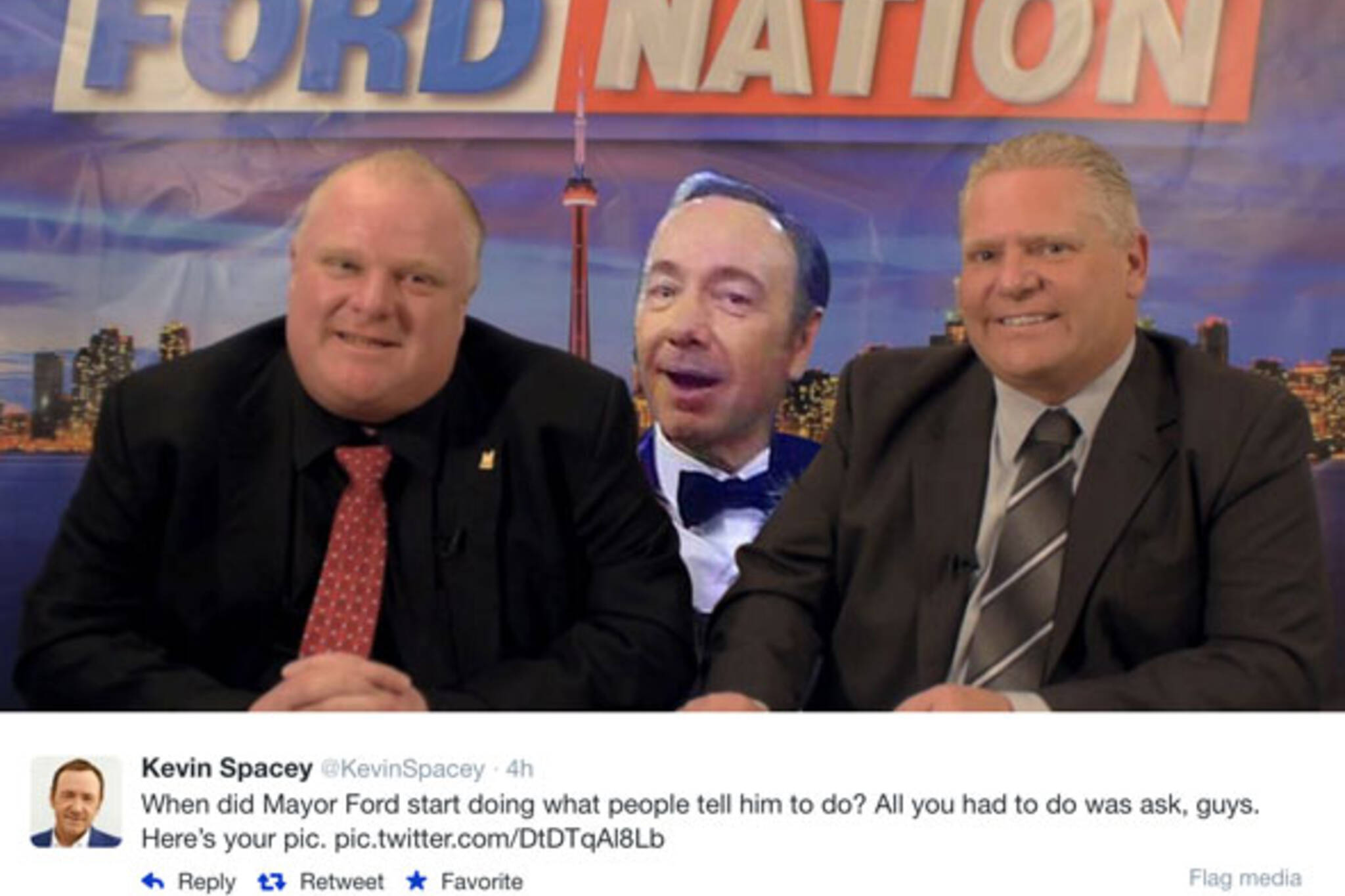 Kevin Spacey Rob Ford