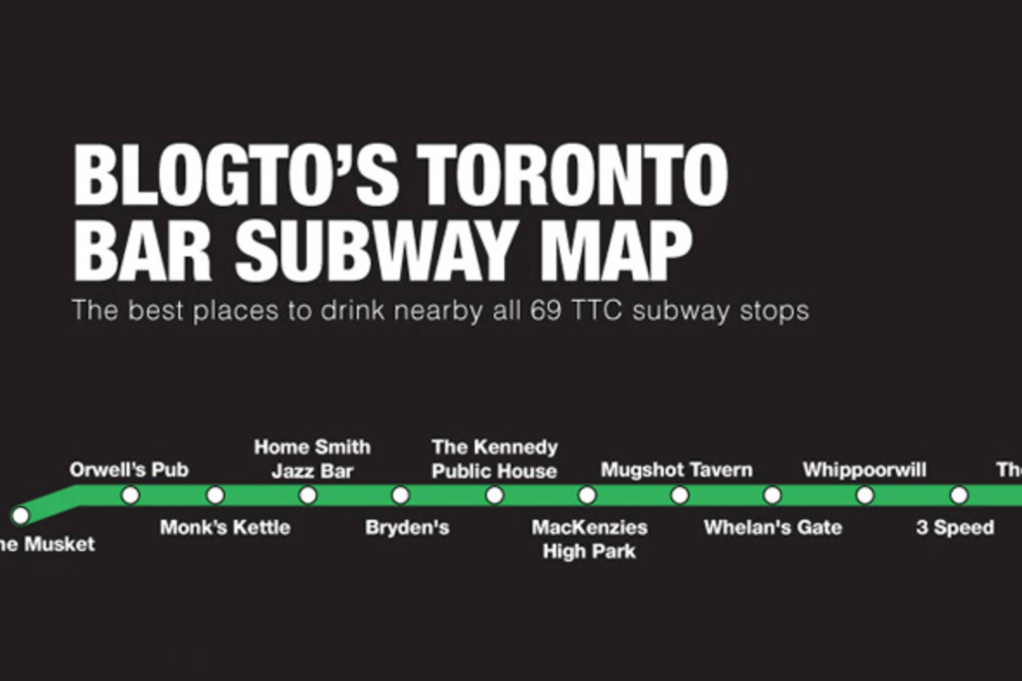 toronto bar subway map