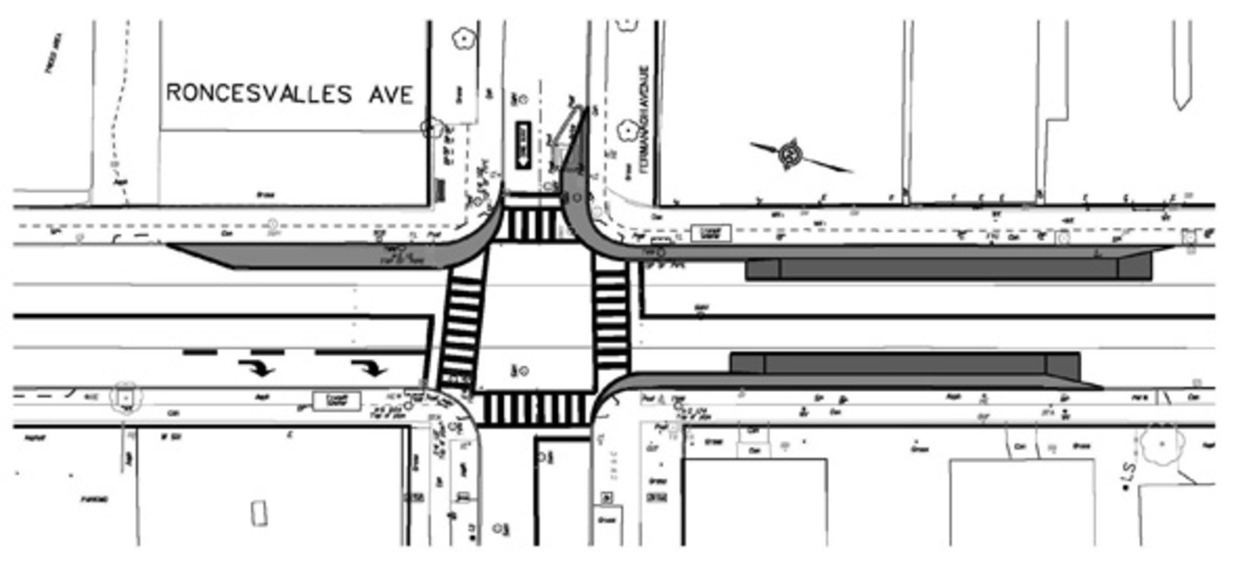 Roncevalles Avenue Bump Out