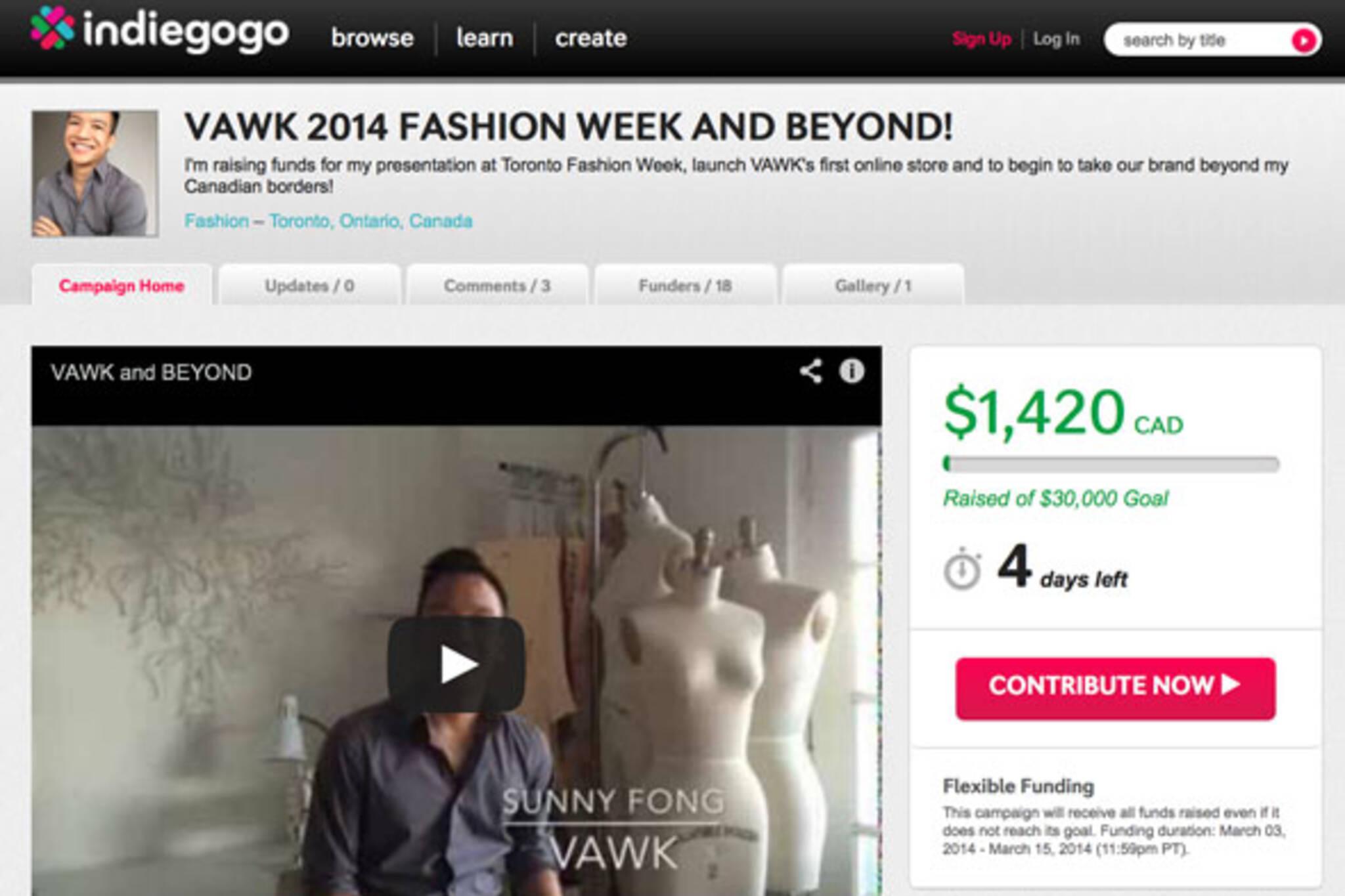 indiegogo fashion week
