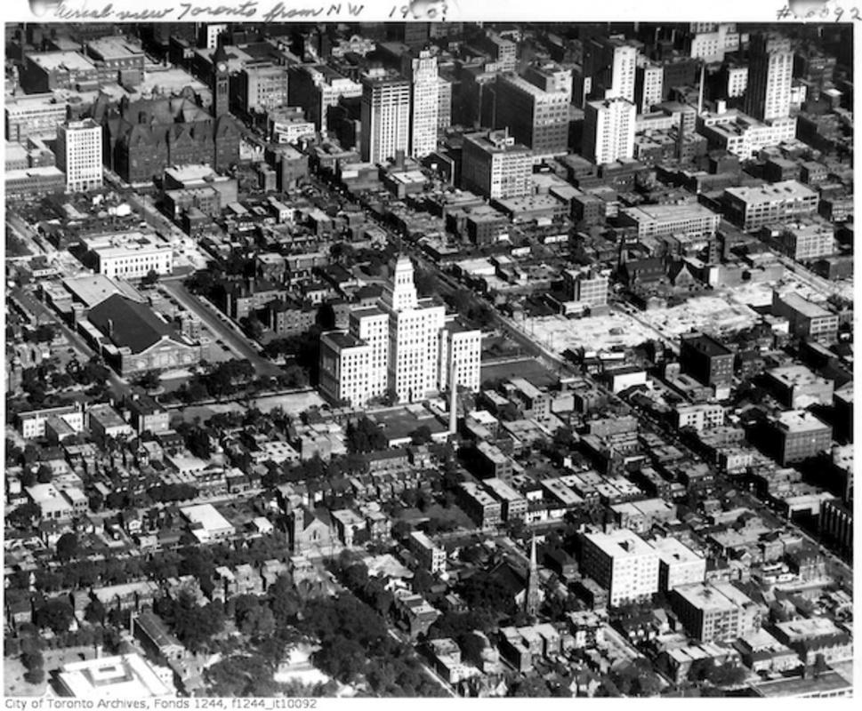 toronto canada life aerial city hall