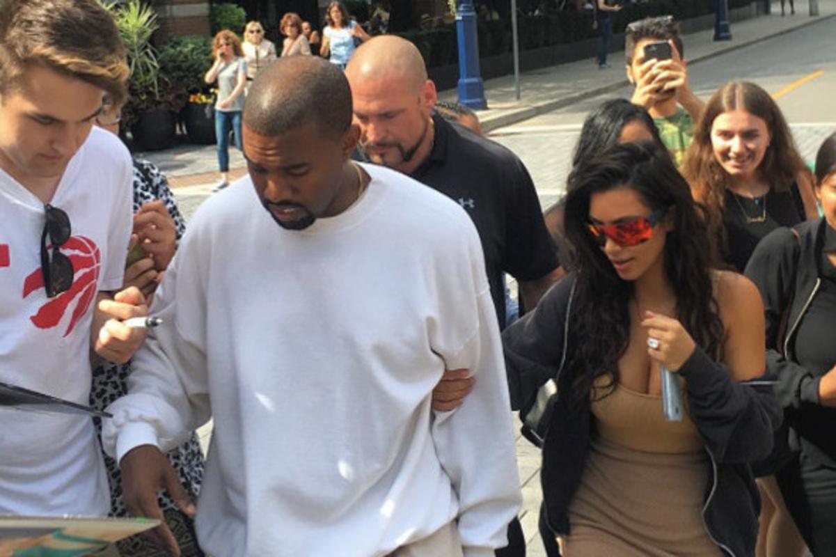 Kim and Kanye Toronto