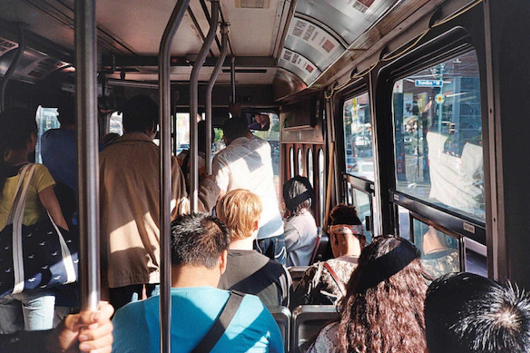 toronto streetcar interior sunshine dundas