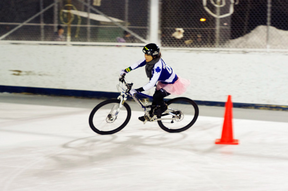 Ice Bike Race Toronto Icycle 2011