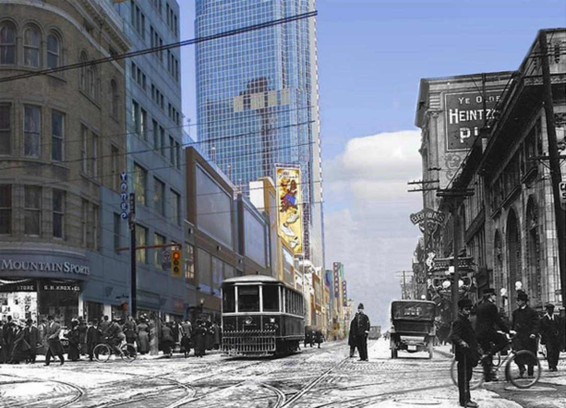 Then and Now photo Toronto
