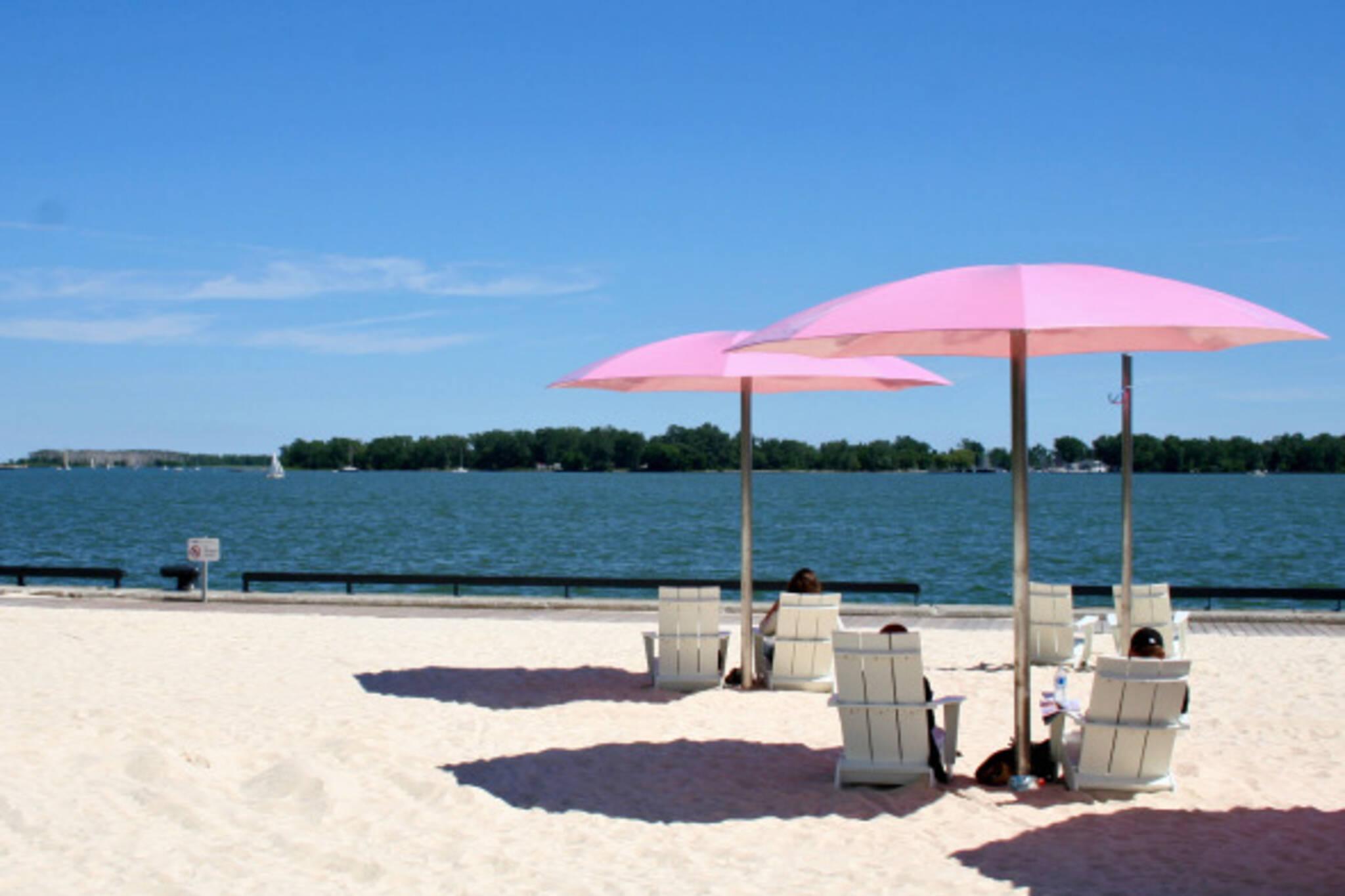Sugar Beach view onto Lake Ontario