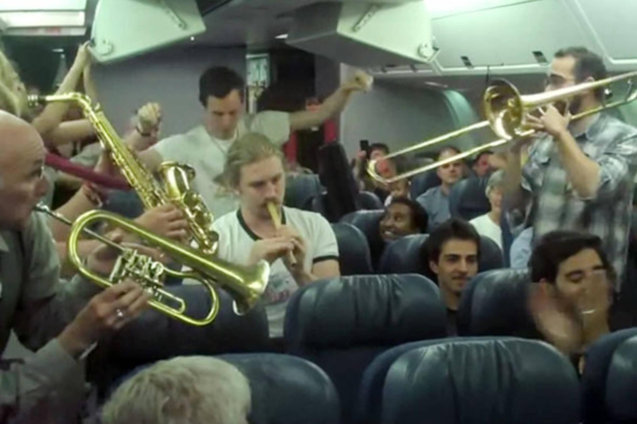Music on a plane