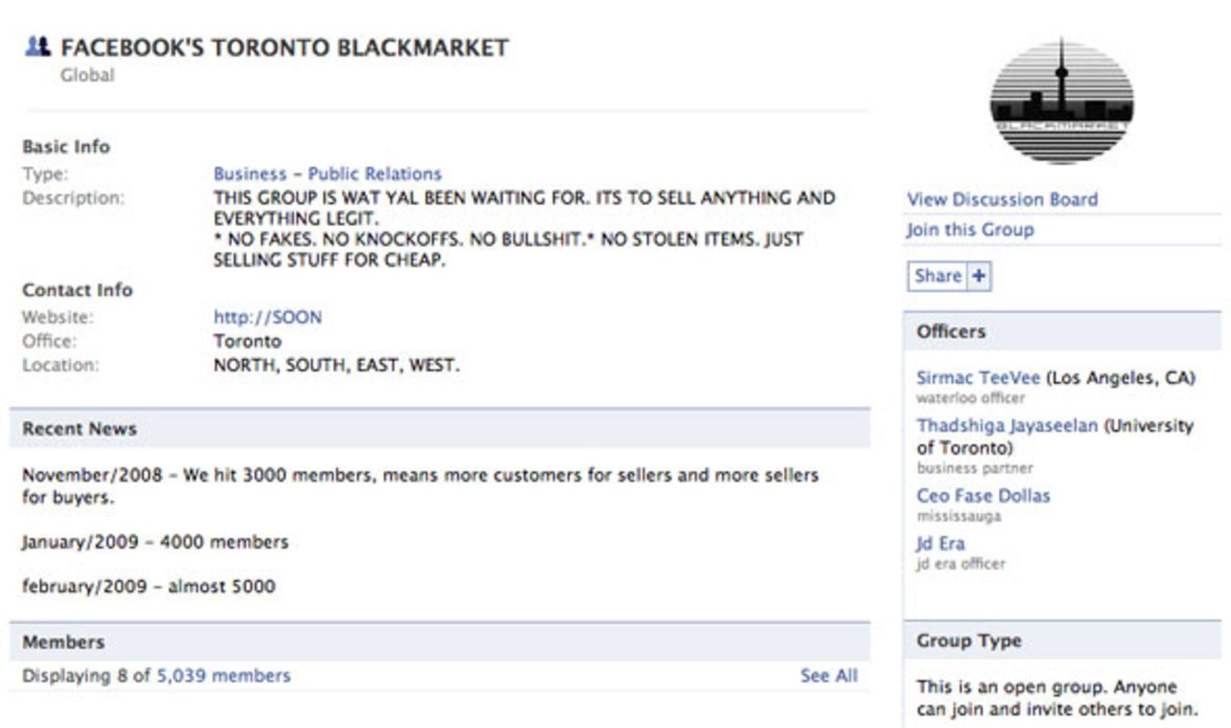 Toronto Blackmarket