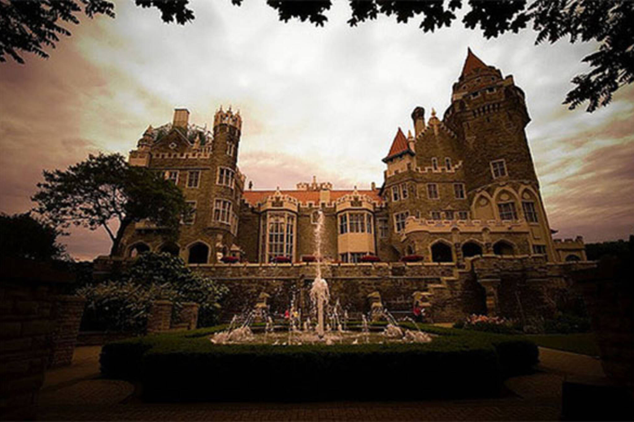 Casa loma transformed into a huge haunted house for Casa mansion