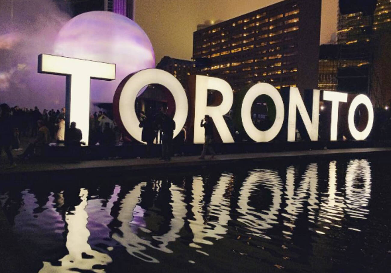 Someone vandalized the Toronto sign last night