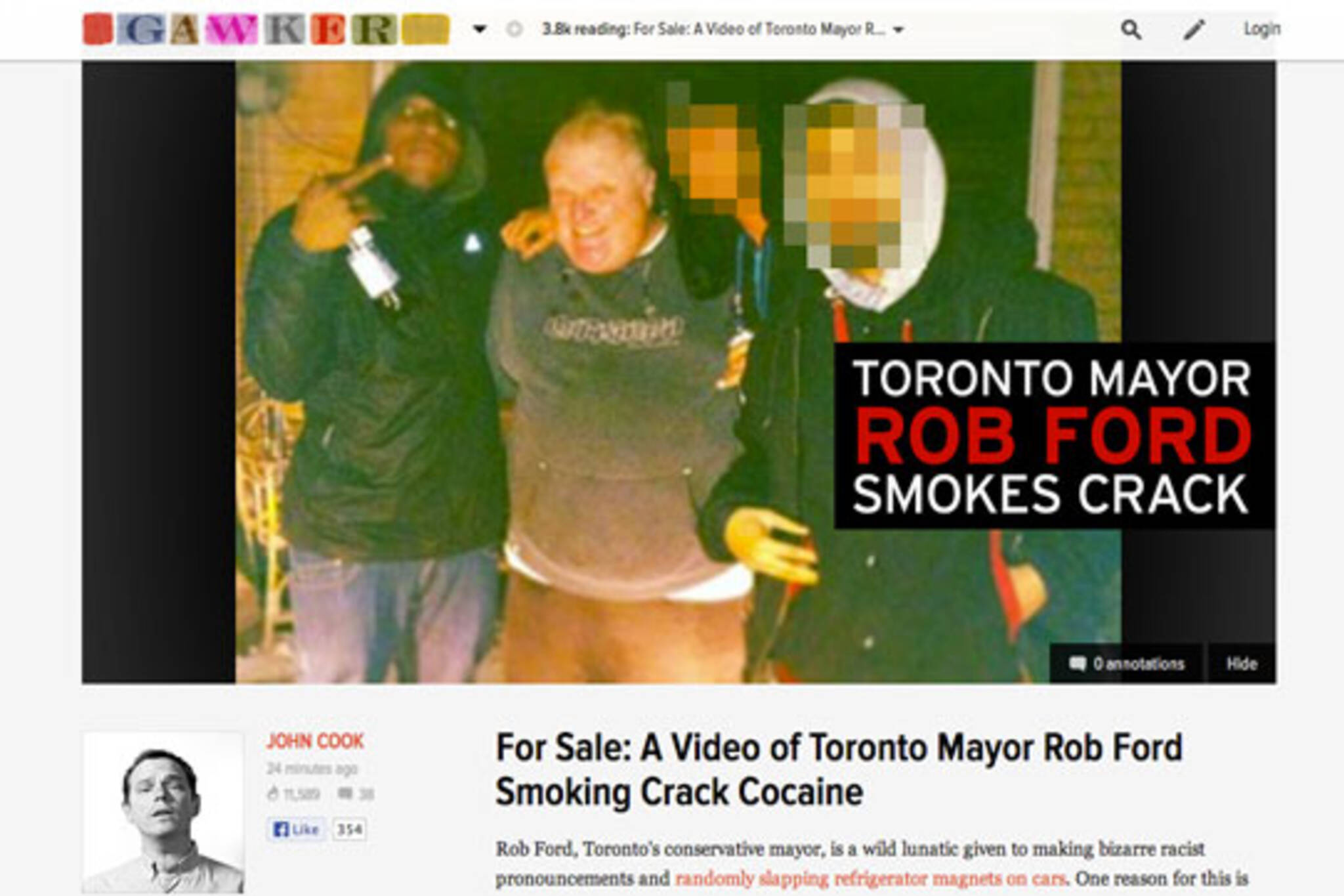 toronto rob ford crack
