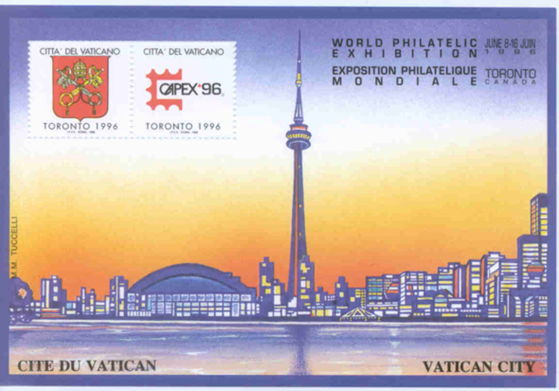 Toronto CN Tower Romanian stamp