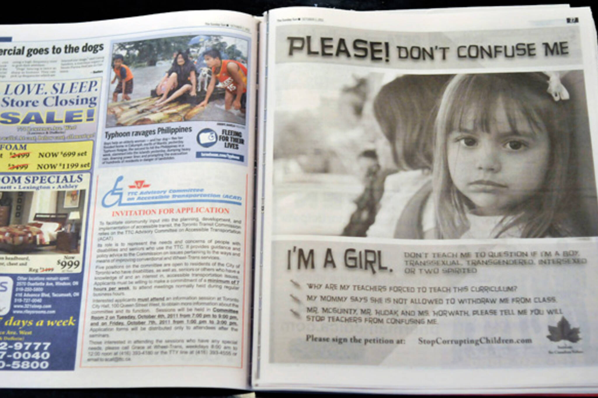 Toronto Sun Transphobic Ad