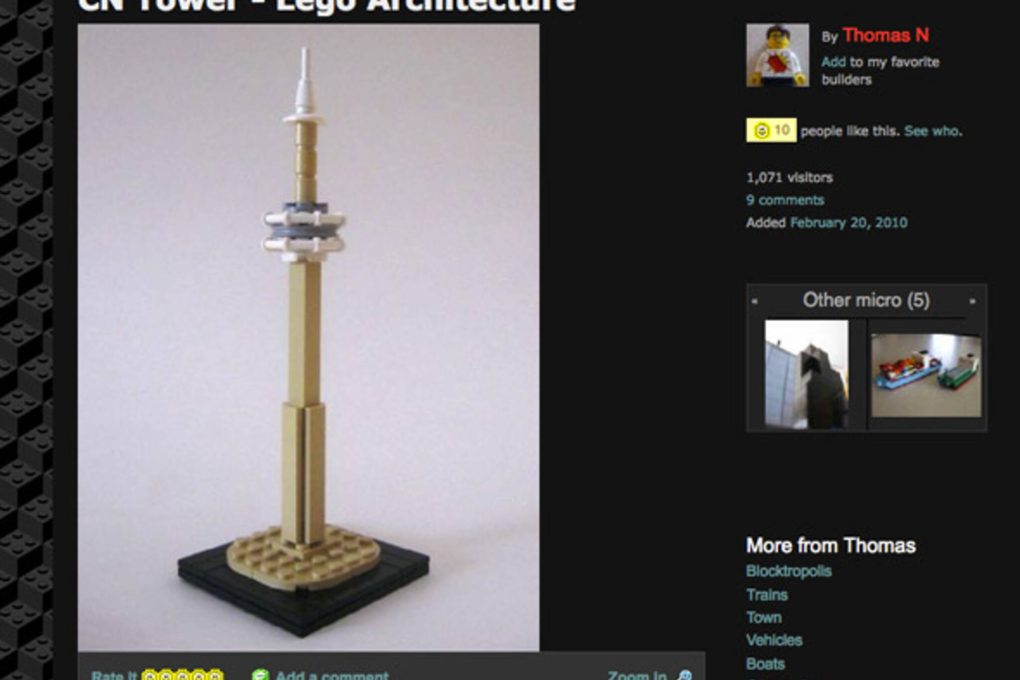 CN Tower Lego