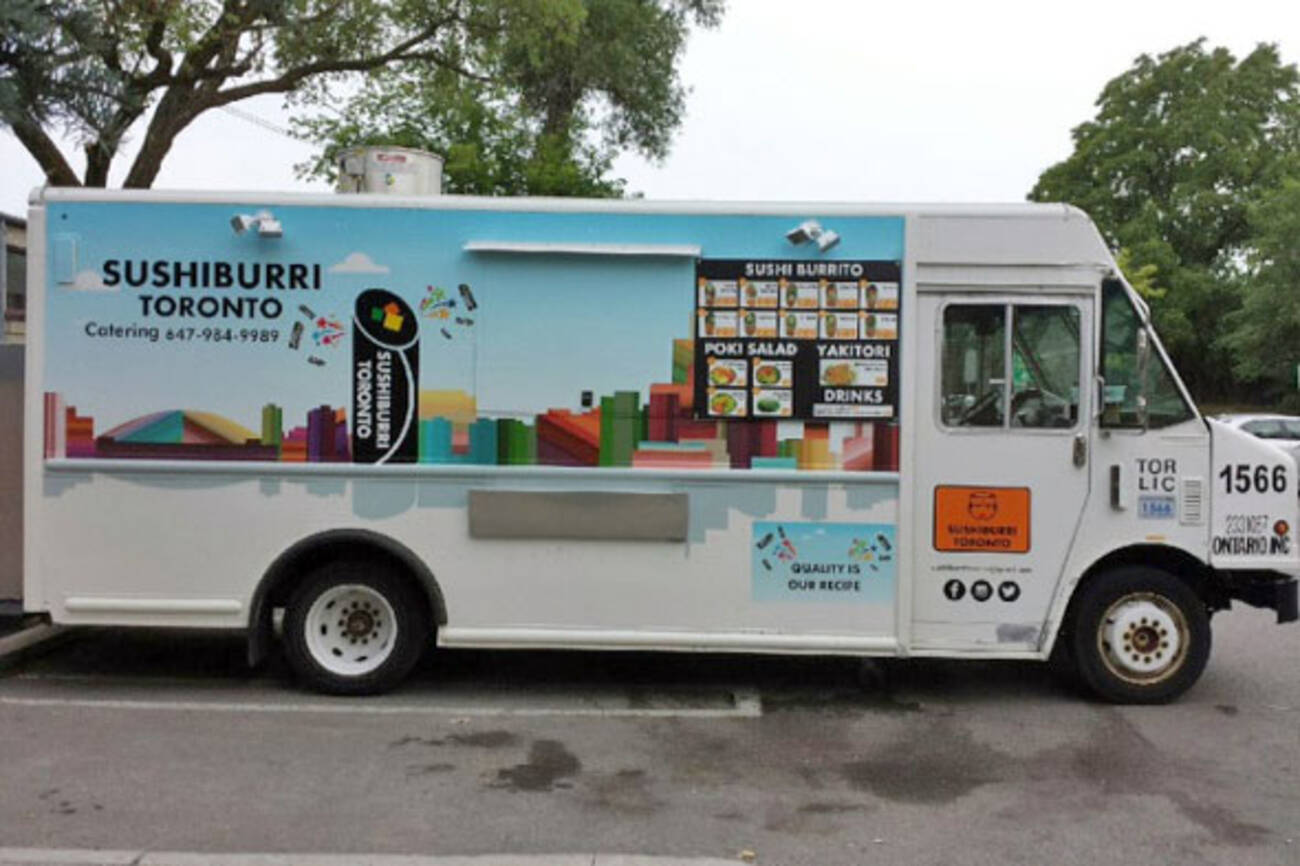Toronto gets another sushi burrito food truck for Food truck design app