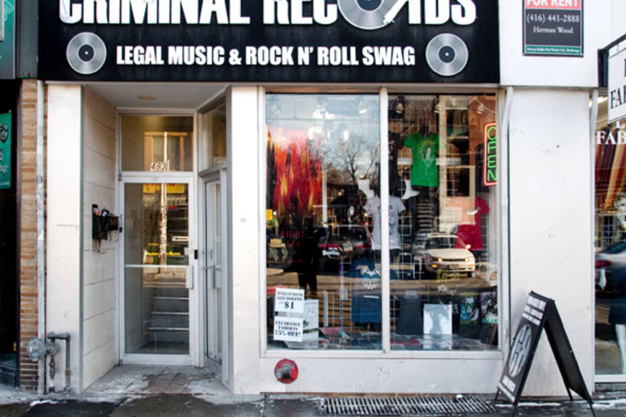 Criminal Records Window