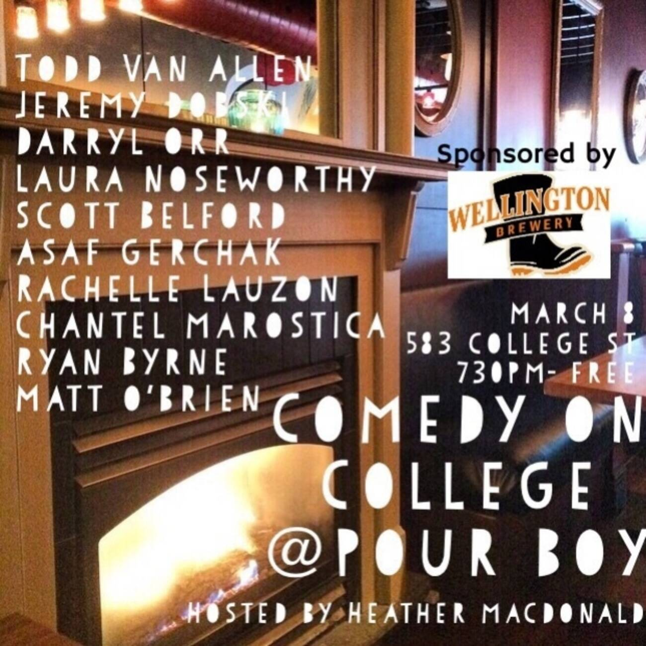 Comedy On College Pour Boy March 9