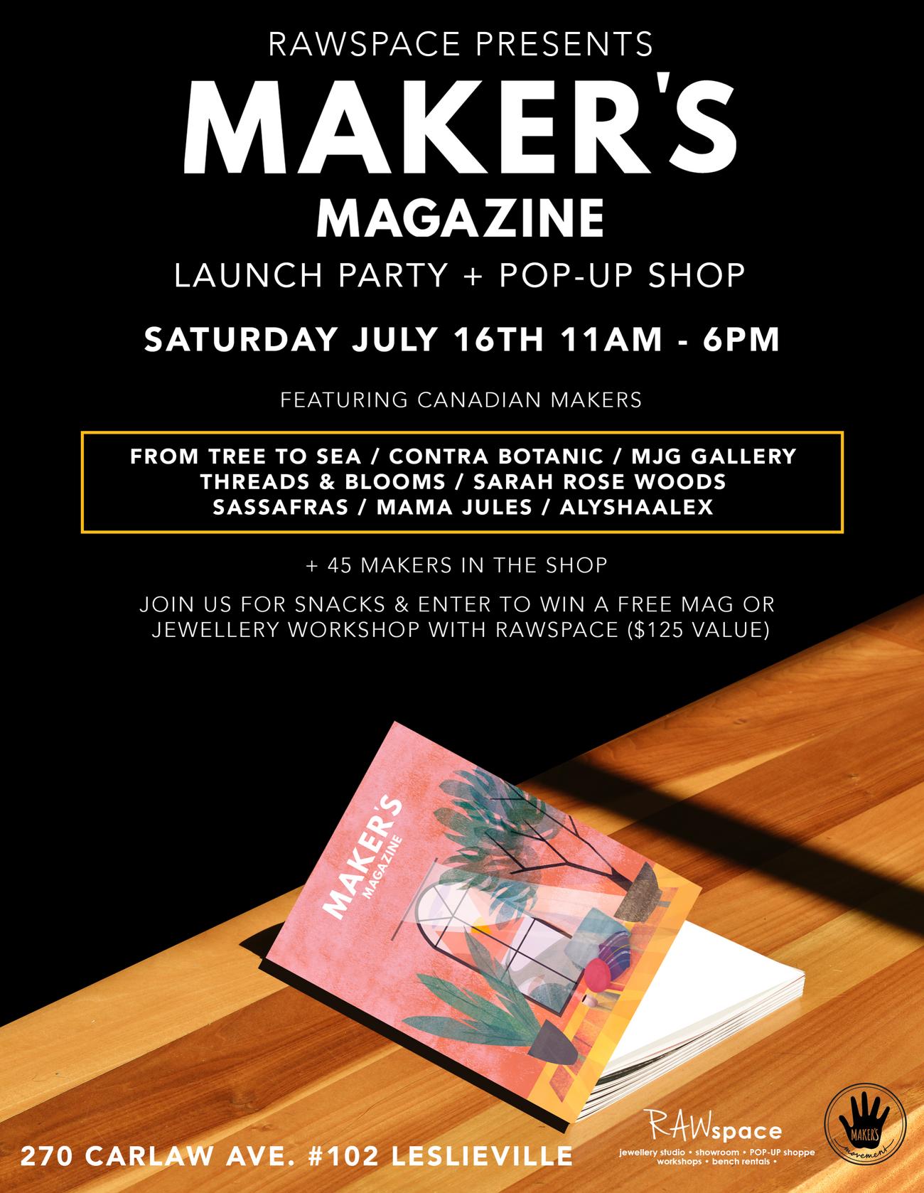 Maker 39 S Magazine Launch Party Pop Up Shop