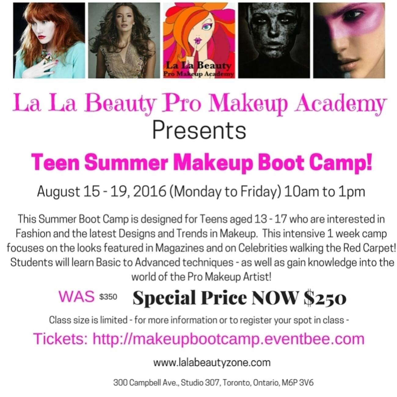 Teen Summer Makeup Boot Camp