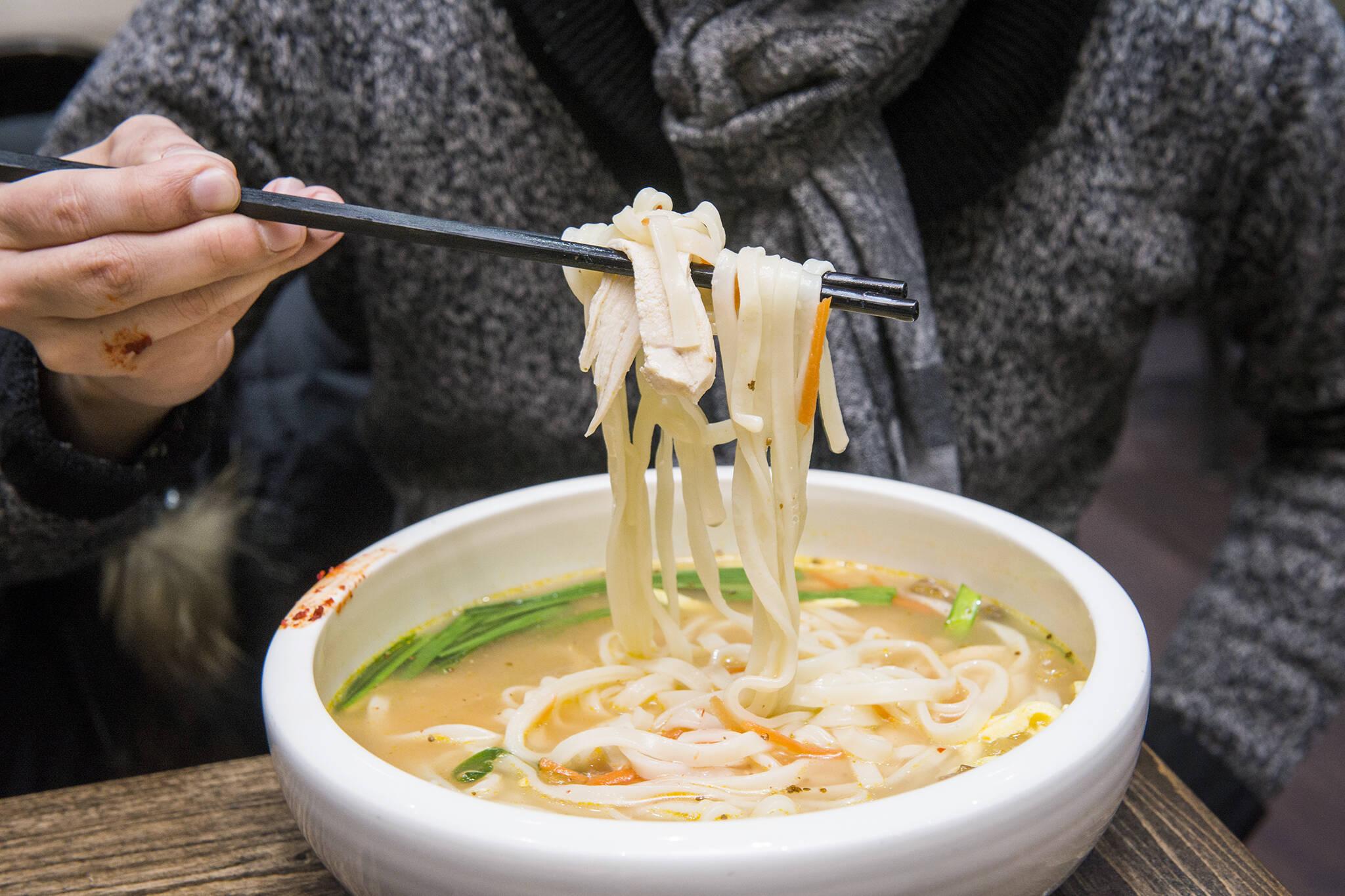 guksu and noodle