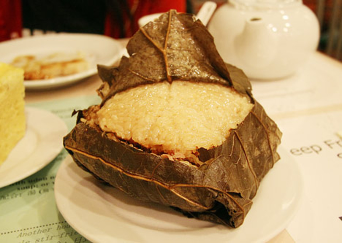 Sticky Rice in Lotus Leaf