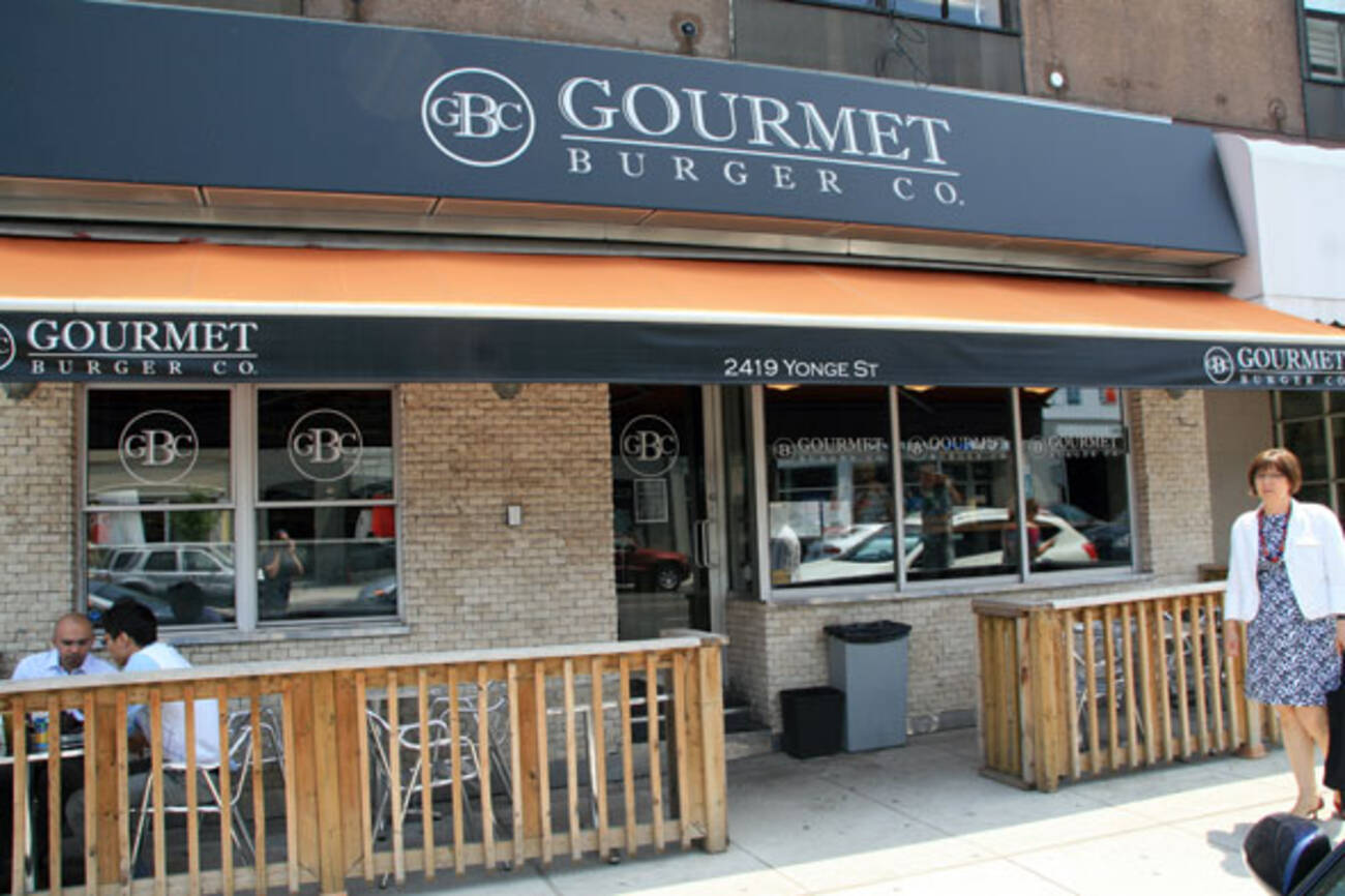 Gourmet burger company yonge st closed blogto toronto for Gourmet hotels
