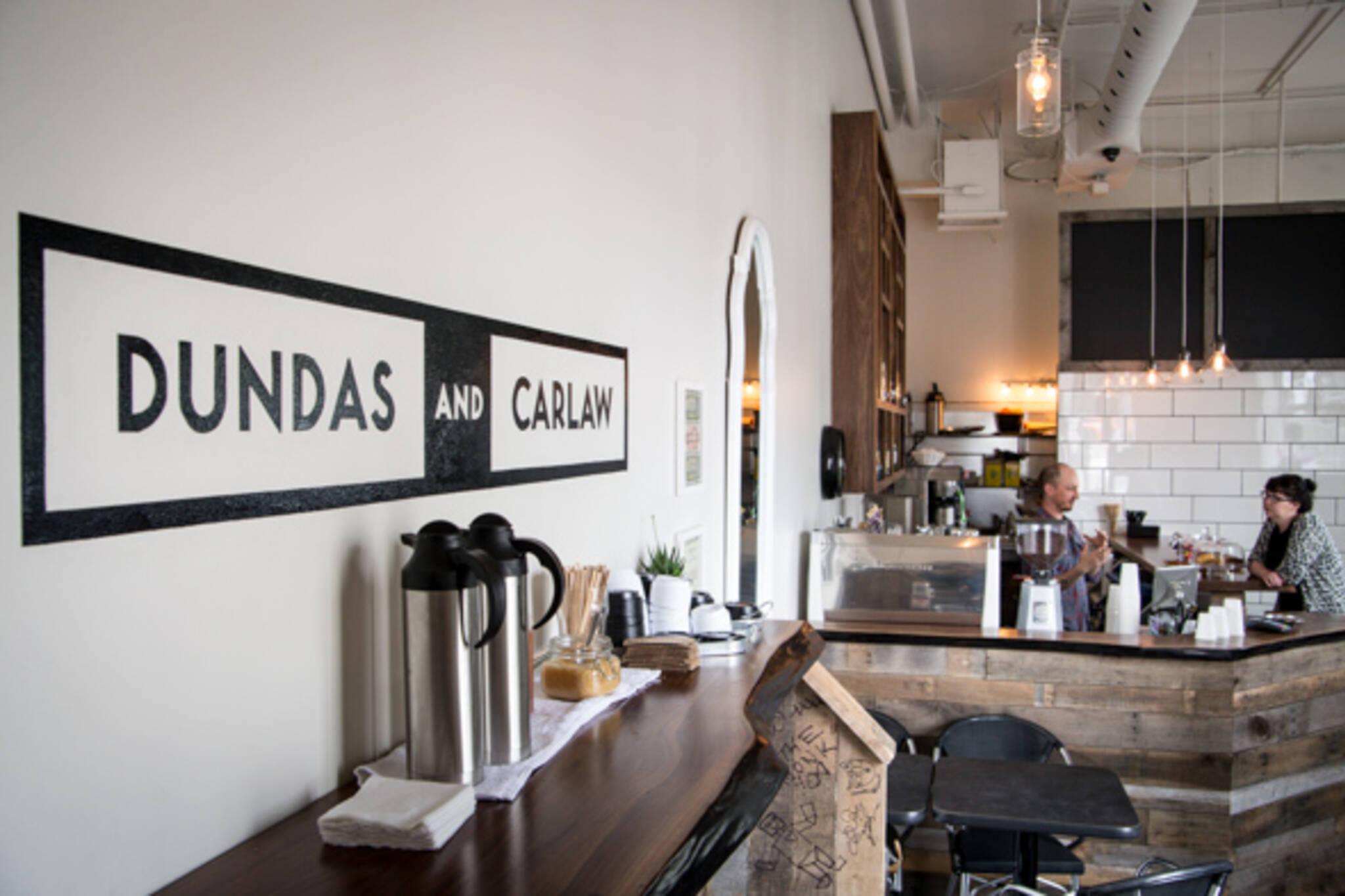 Dundas and Carlaw cafe Toronto