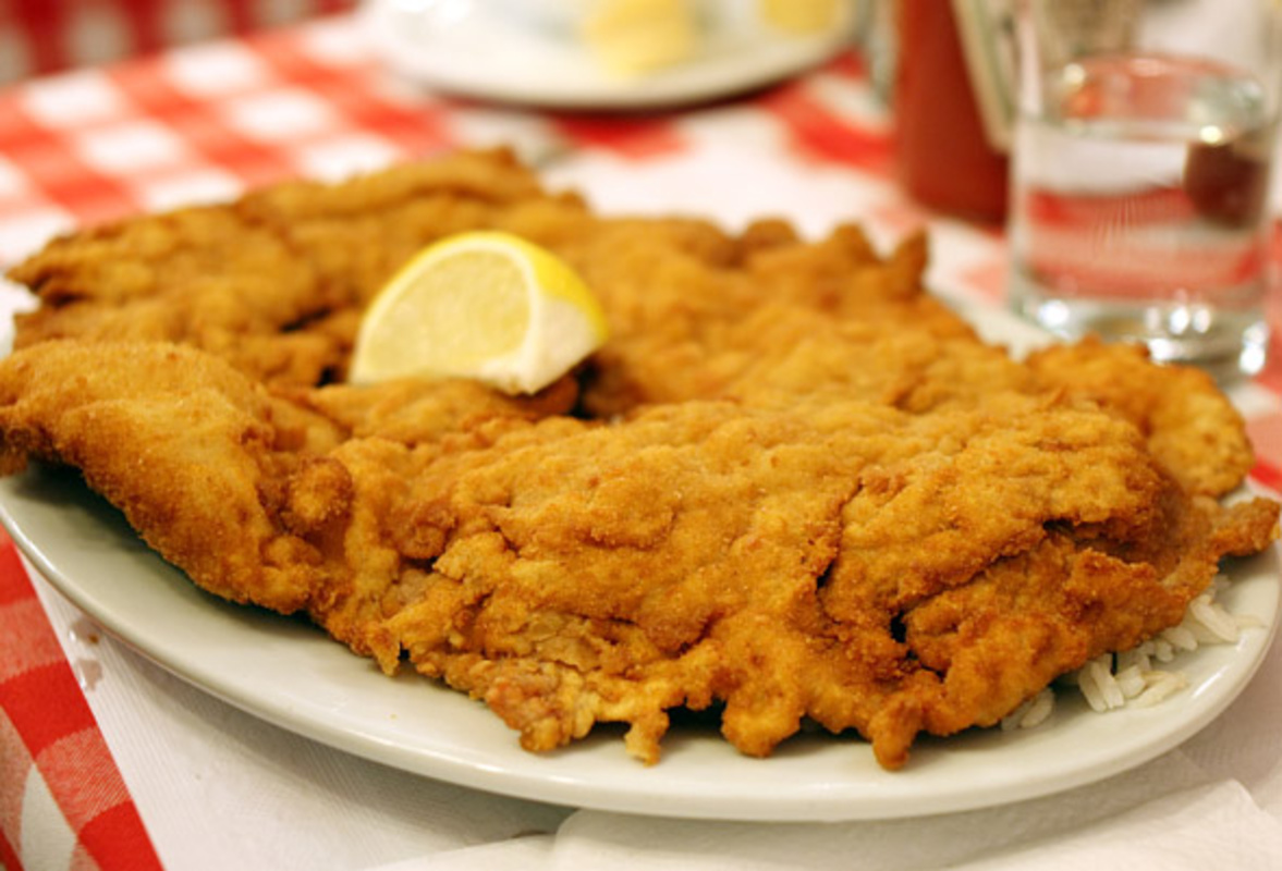 Chicken Schnitzel at Country Style Hungarian Restaurant in the Annex