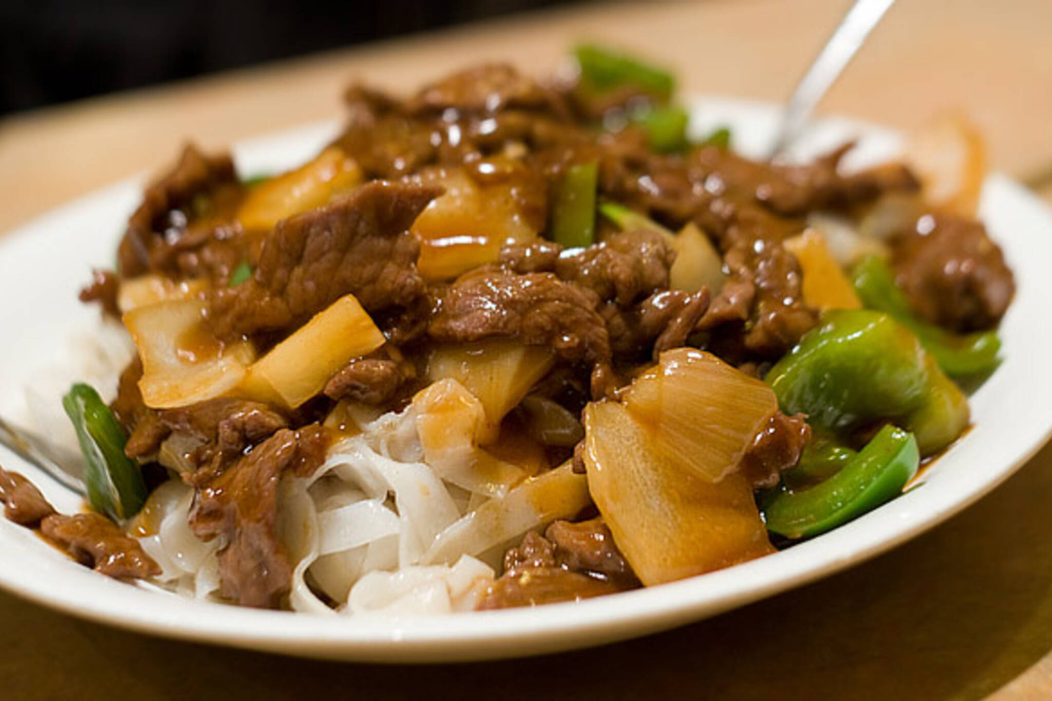 Beef Satay Rice Noodles