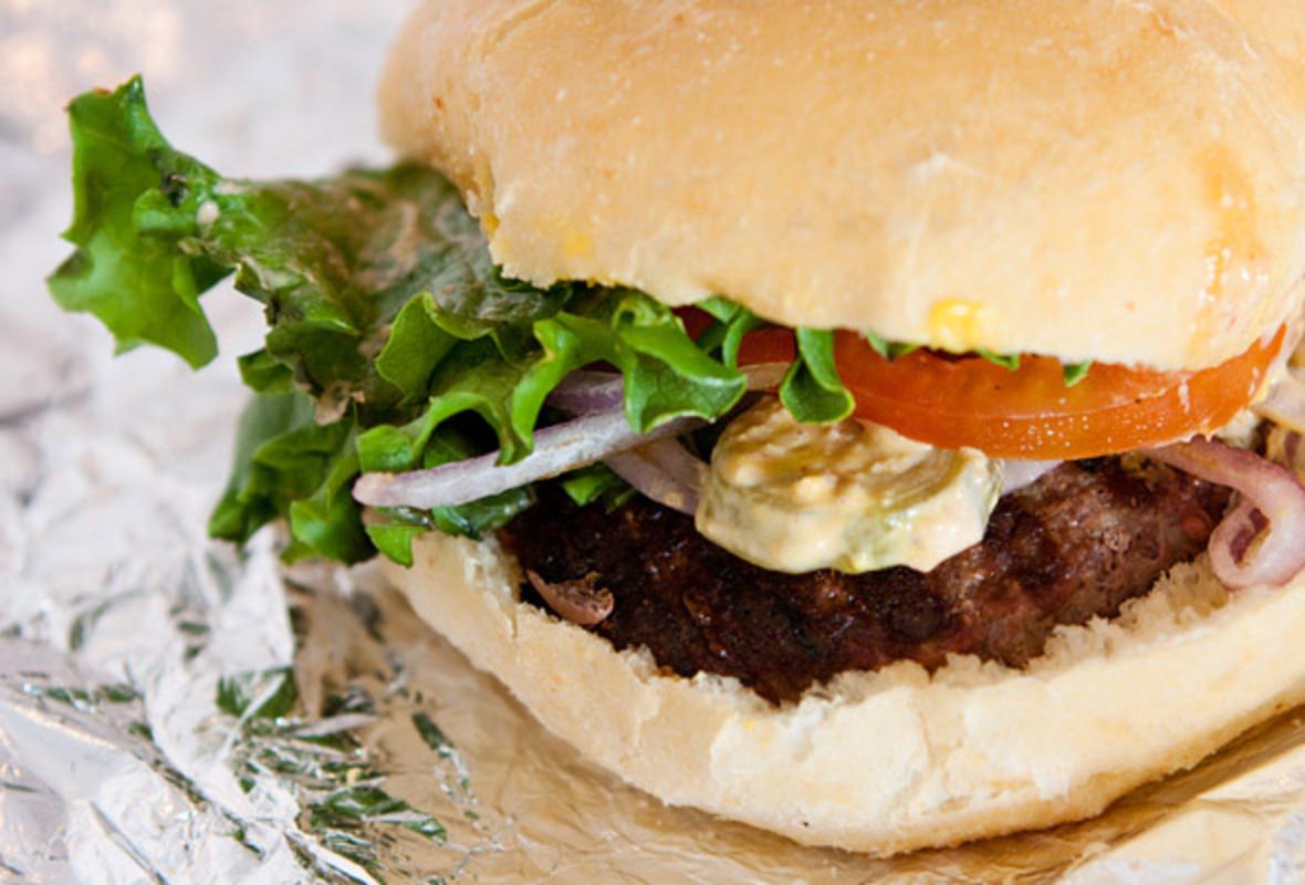 Bison Burger at the Stampede Bison Grill on Brock Street in Toronto