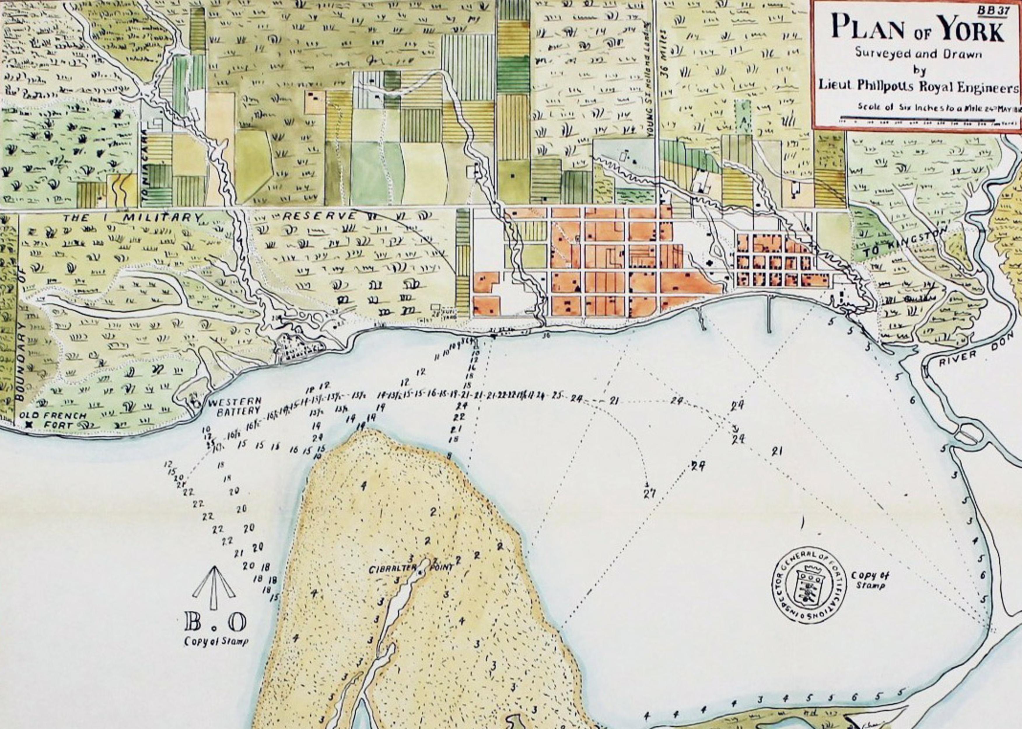 toronto harbour 1818