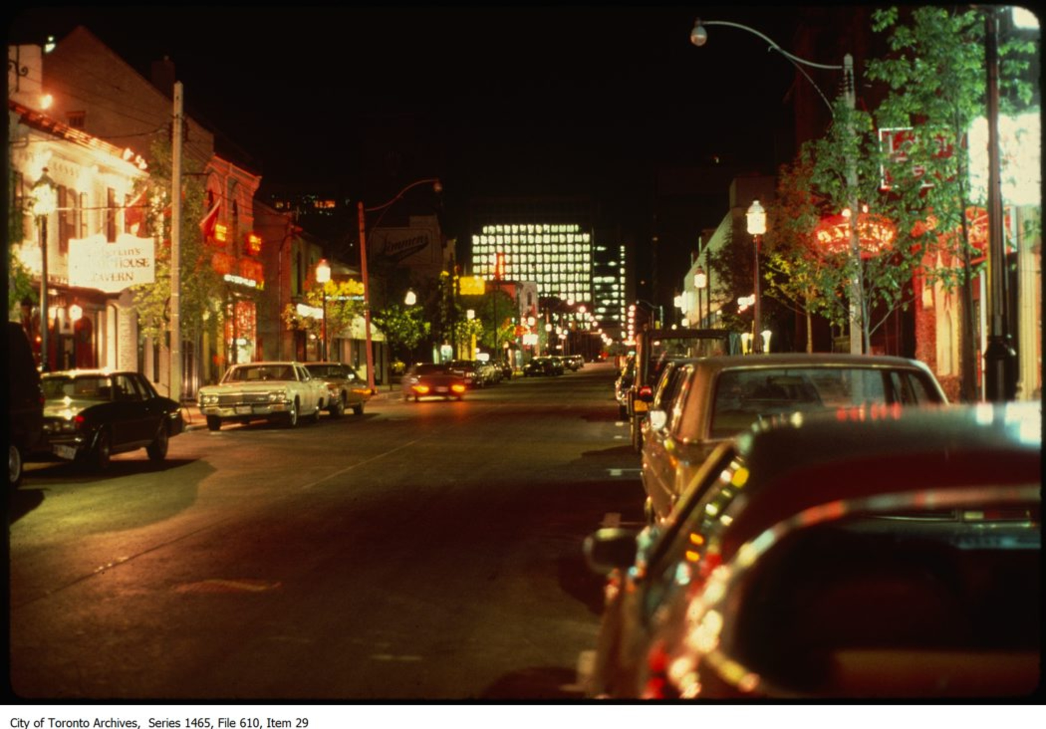 dazzling colour photographs of 1970s and 80s toronto at night