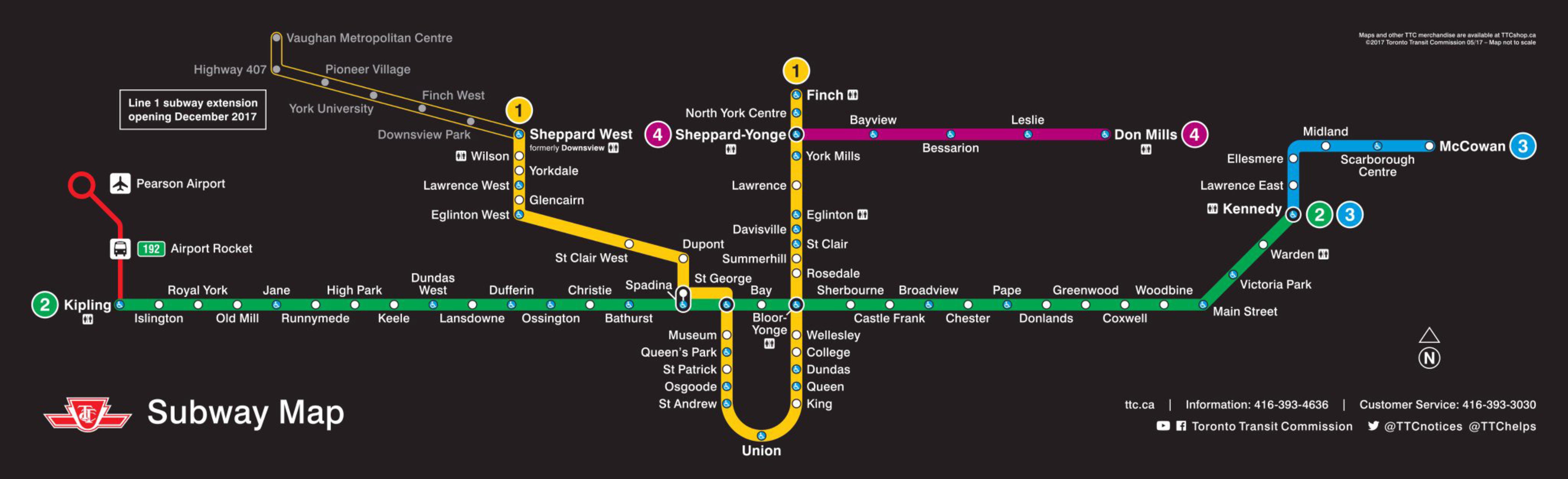 New Subway Map Toronto