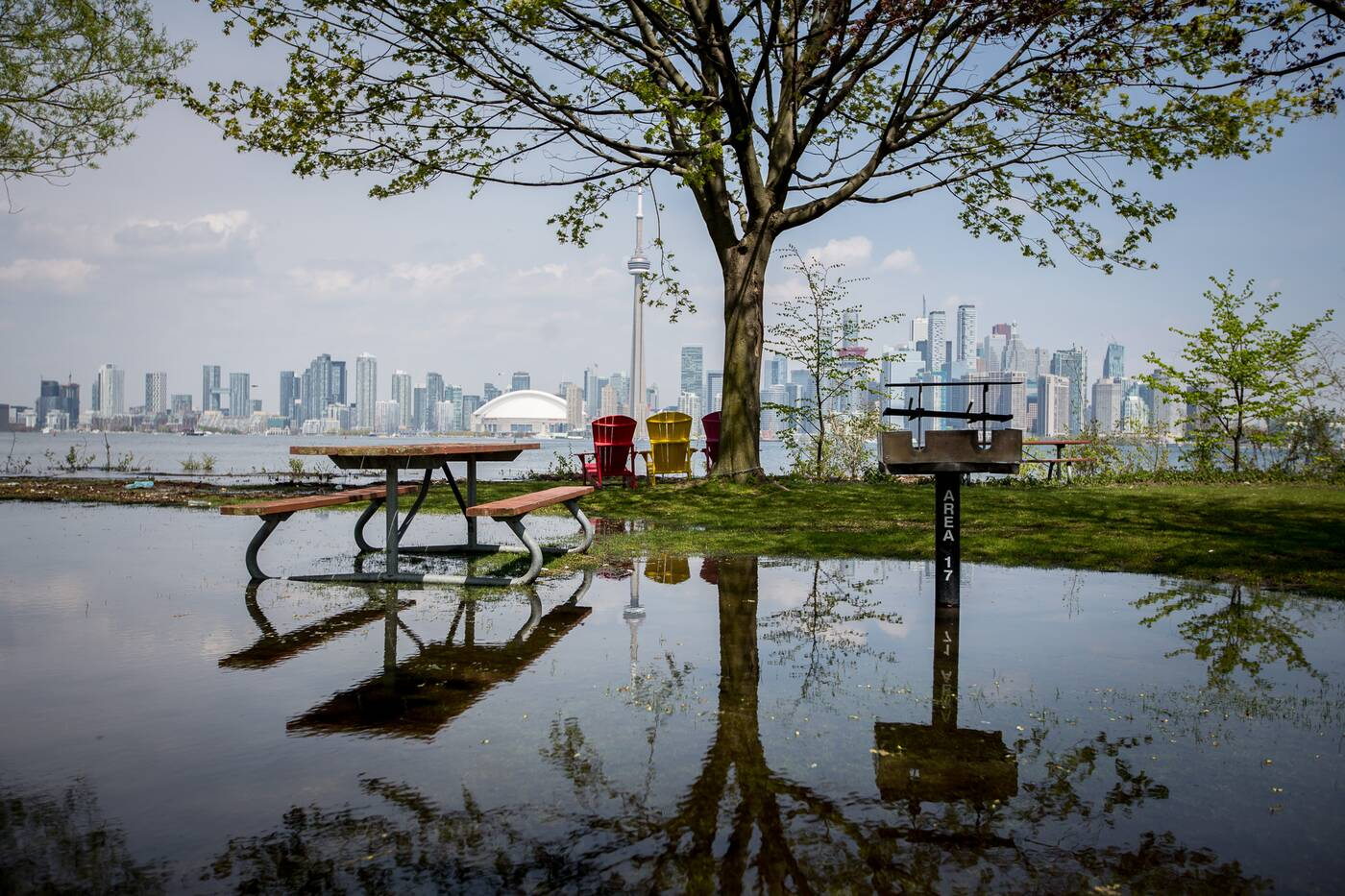 Toronto Islands Floodinmg