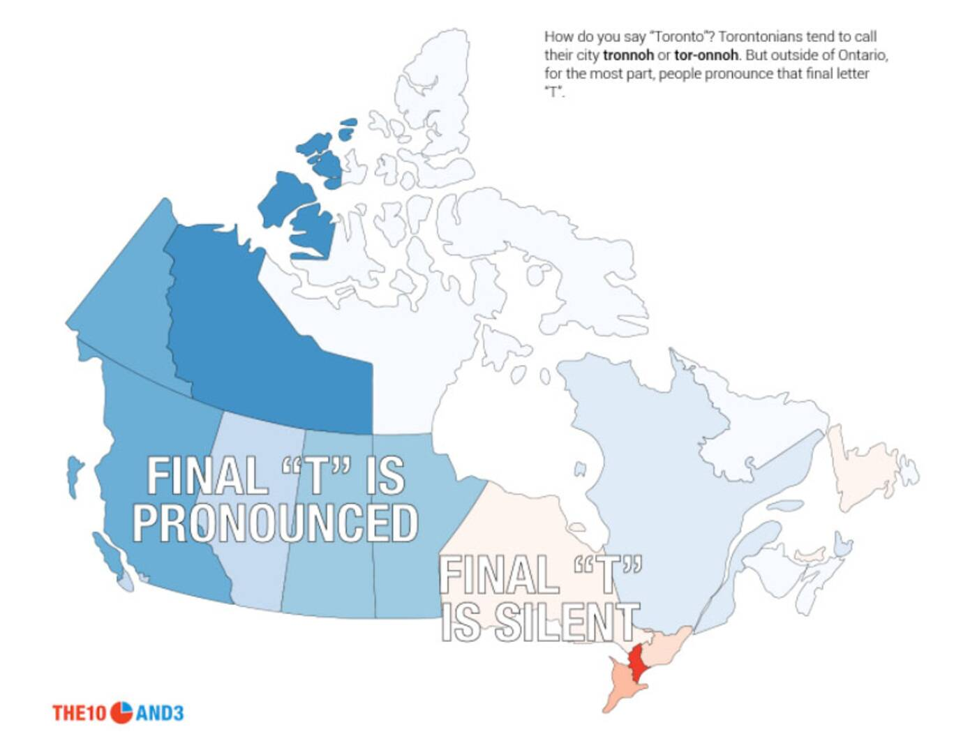 Study Confirms Most Canadians Dont Know How To Pronounce Toronto - Pronunciation of our us map