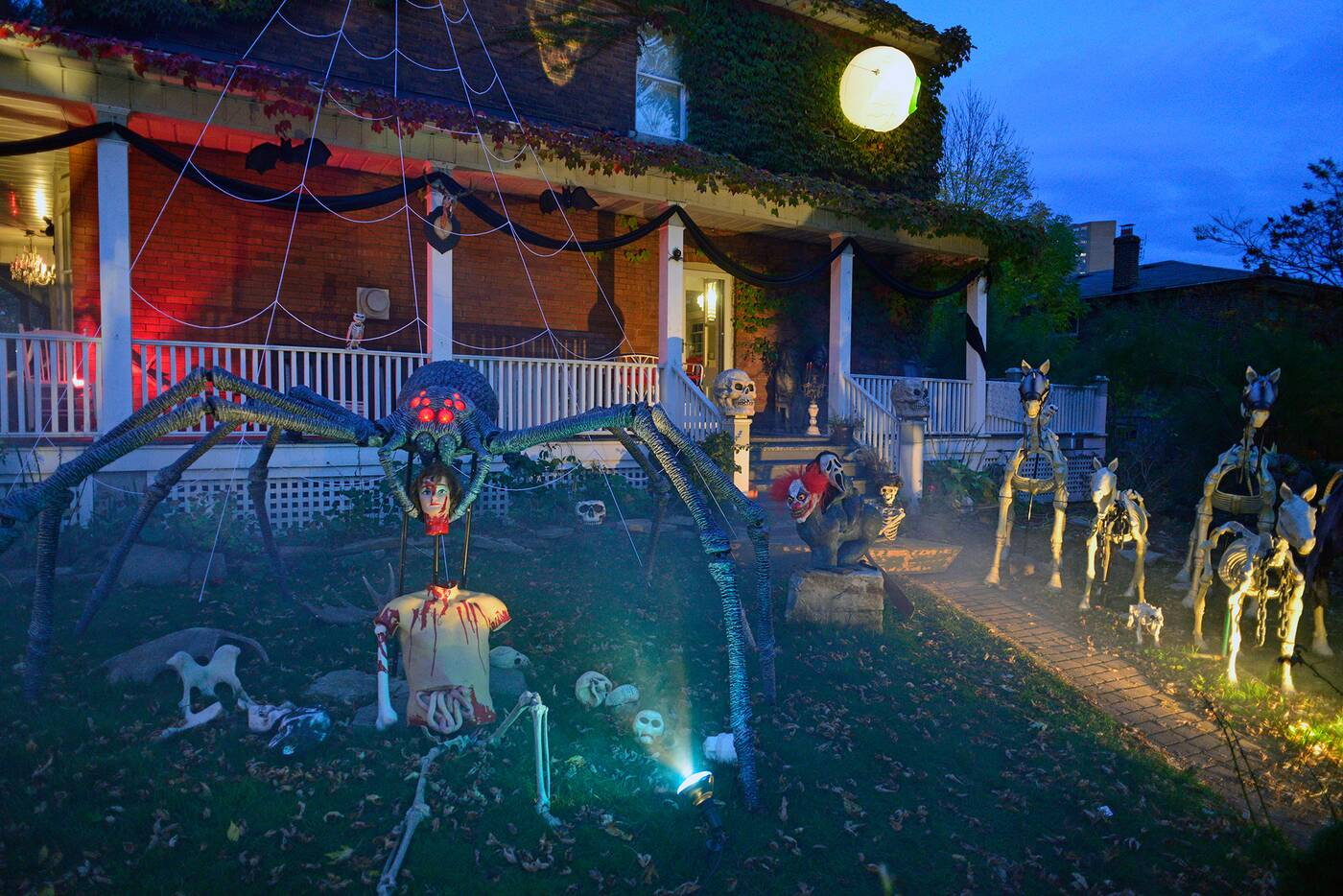 this house has the most epic halloween display in toronto