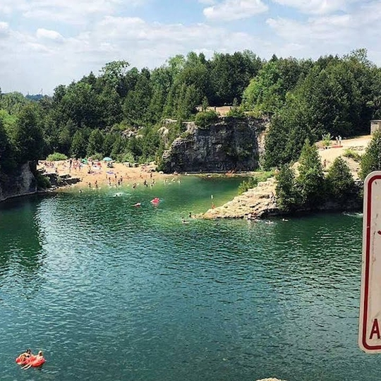 Elora Quarry is home to an epic swimming hole