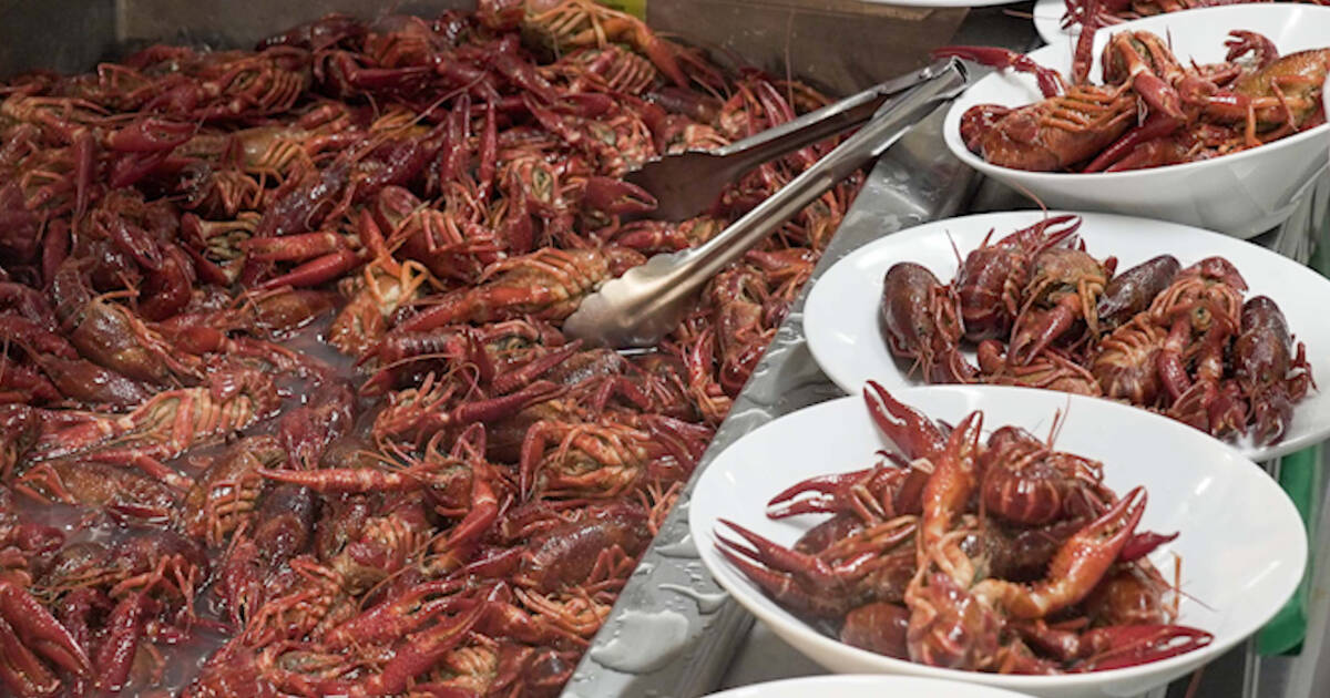 This is what IKEA's AYCE Crayfish Party looked like in Toronto