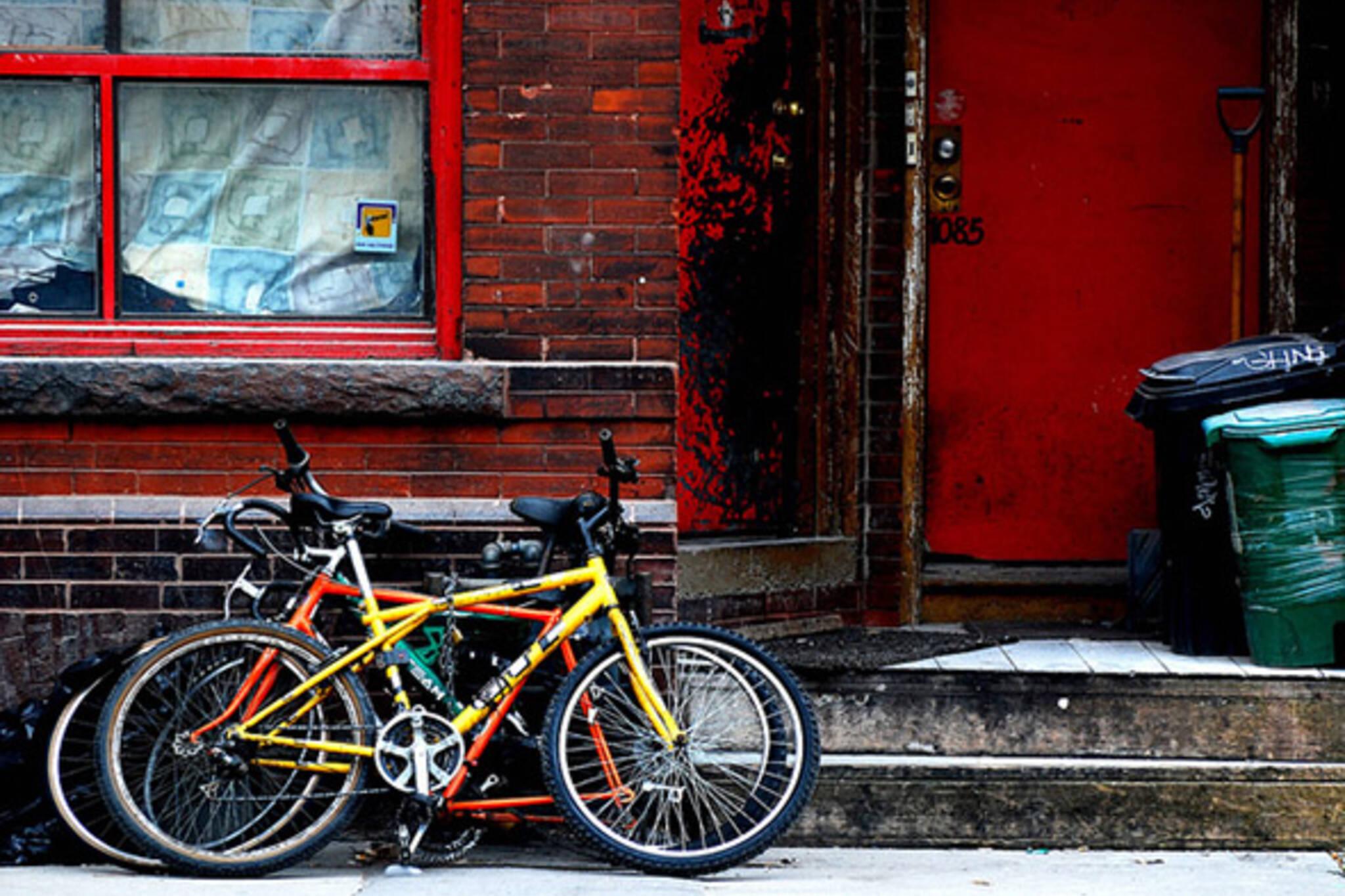 bike, street, stop