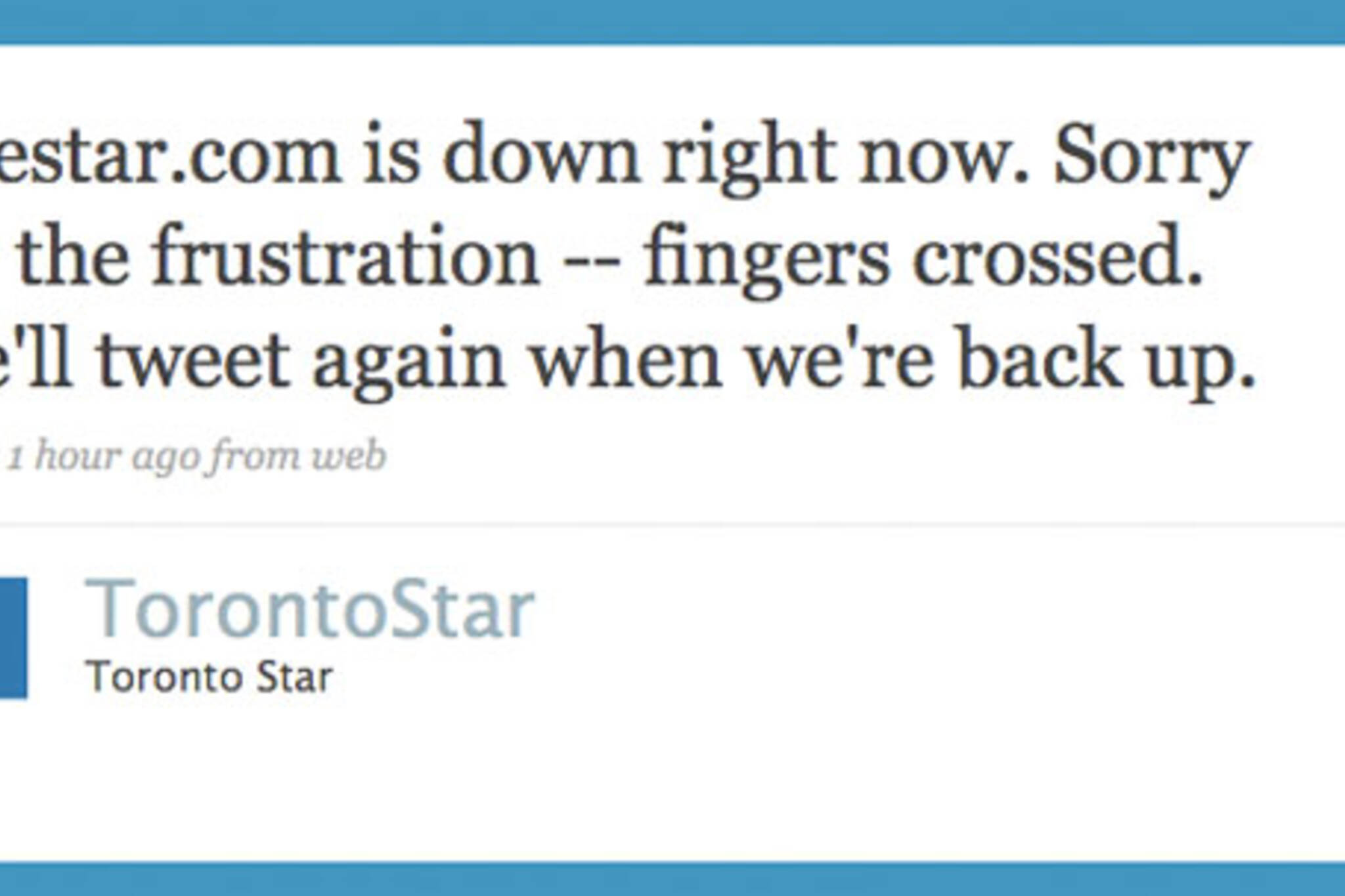 toronto star website down