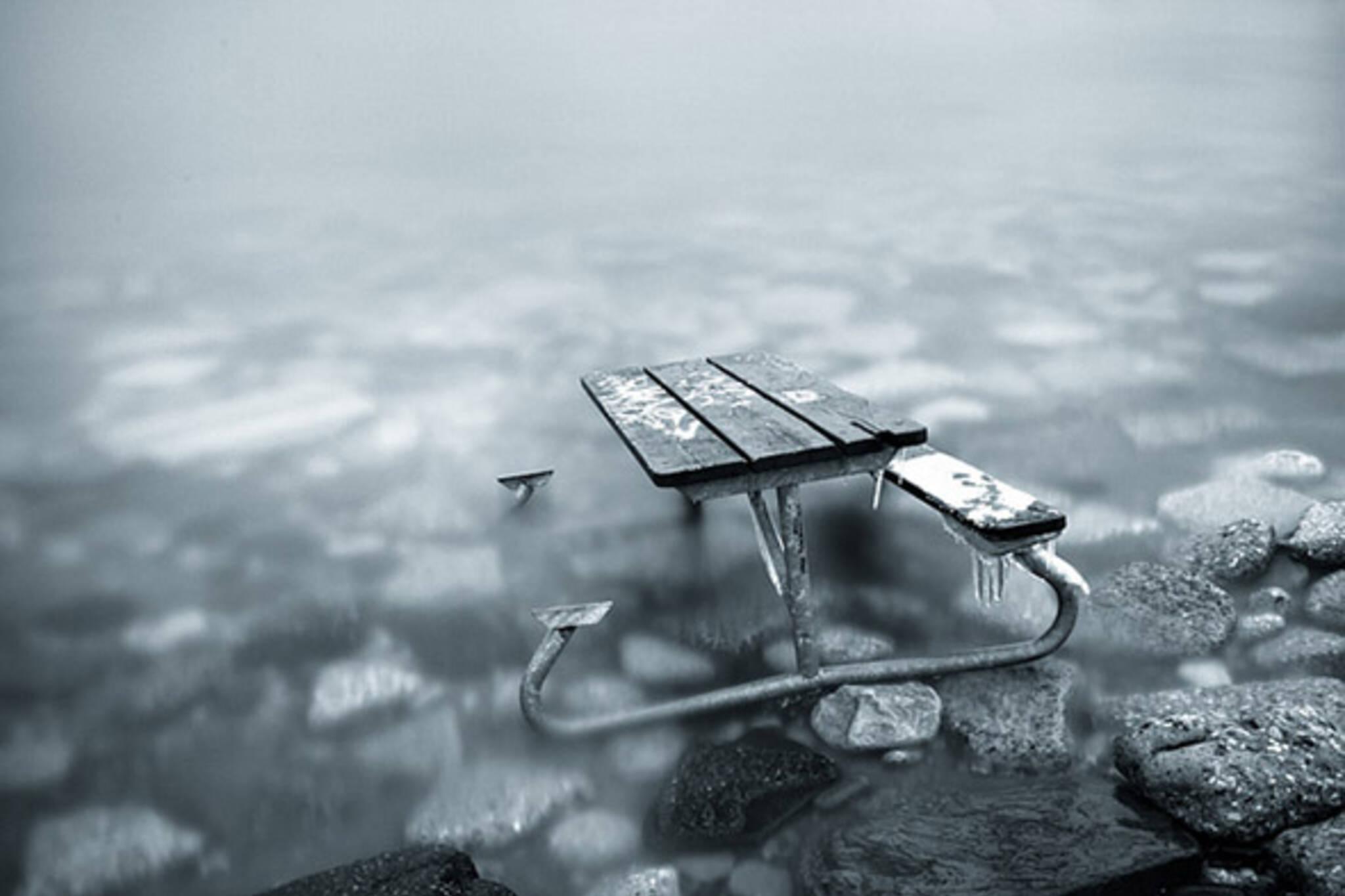 sinking bench