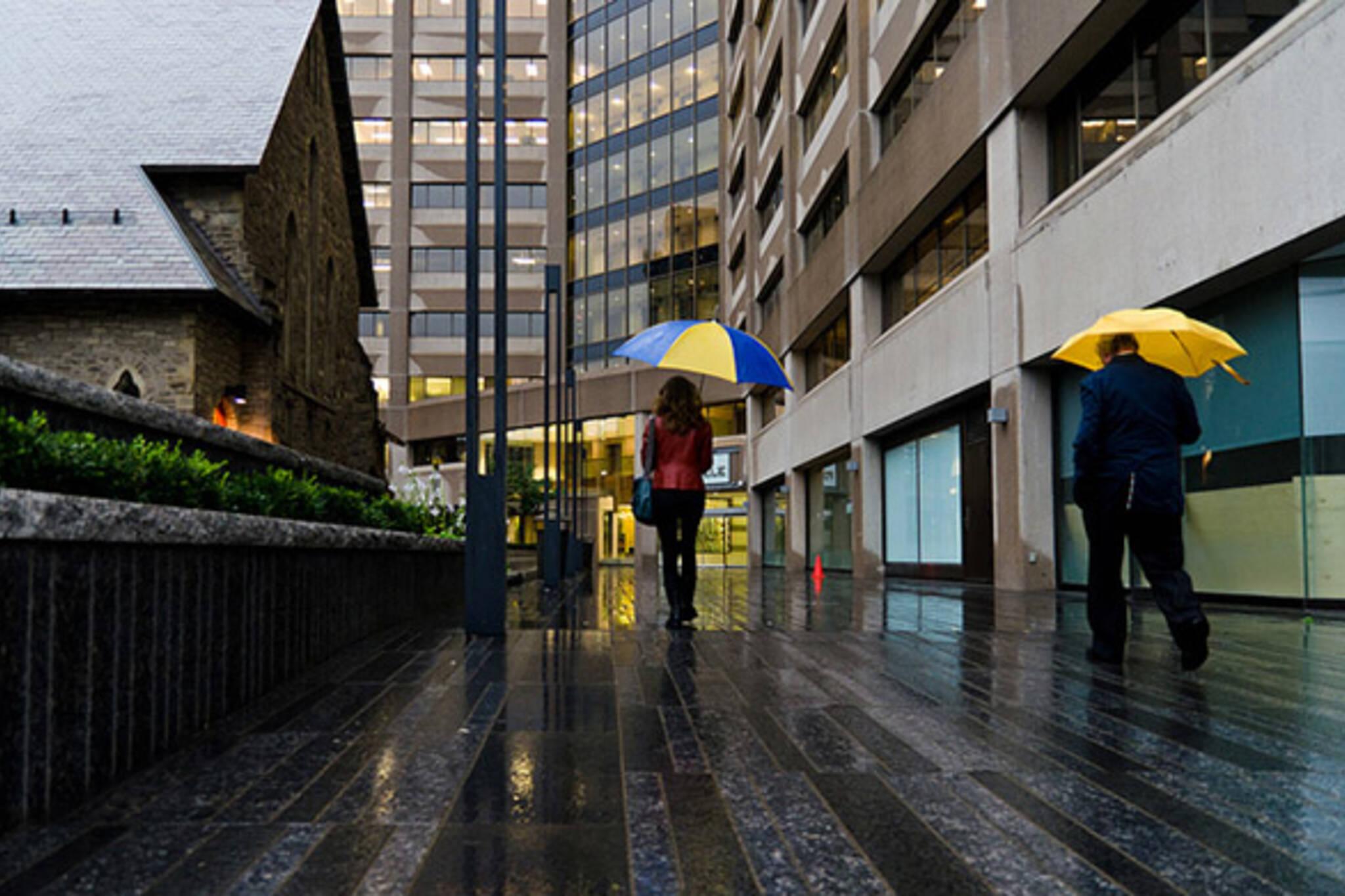 toronto, rain, umbrella